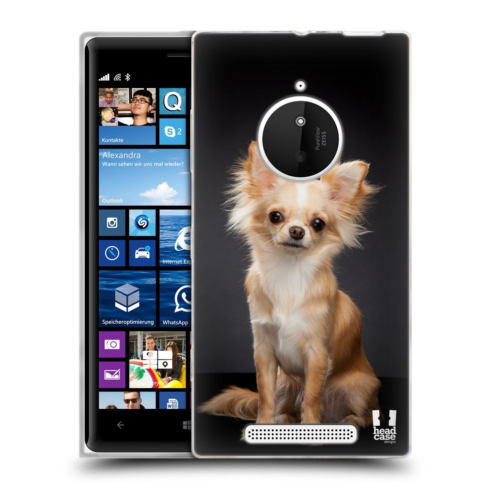 Silikonové pouzdro na mobil Nokia Lumia 830 HEAD CASE ČIVAVA (Silikonový kryt či obal na mobilní telefon Nokia Lumia 830)