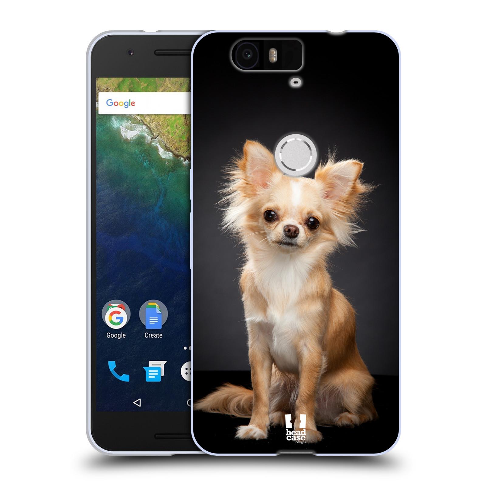 Silikonové pouzdro na mobil Huawei Nexus 6P HEAD CASE ČIVAVA (Silikonový kryt či obal na mobilní telefon Huawei Nexus 6P)