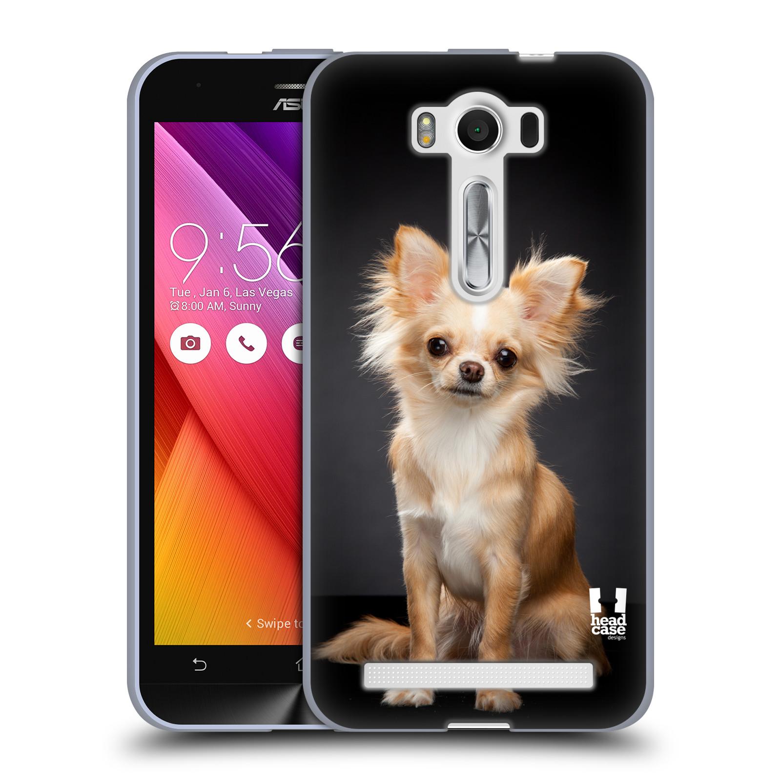 "Silikonové pouzdro na mobil Asus ZenFone 2 Laser ZE500KL HEAD CASE ČIVAVA (Silikonový kryt či obal na mobilní telefon Asus ZenFone 2 Laser ZE500KL s 5"" displejem)"