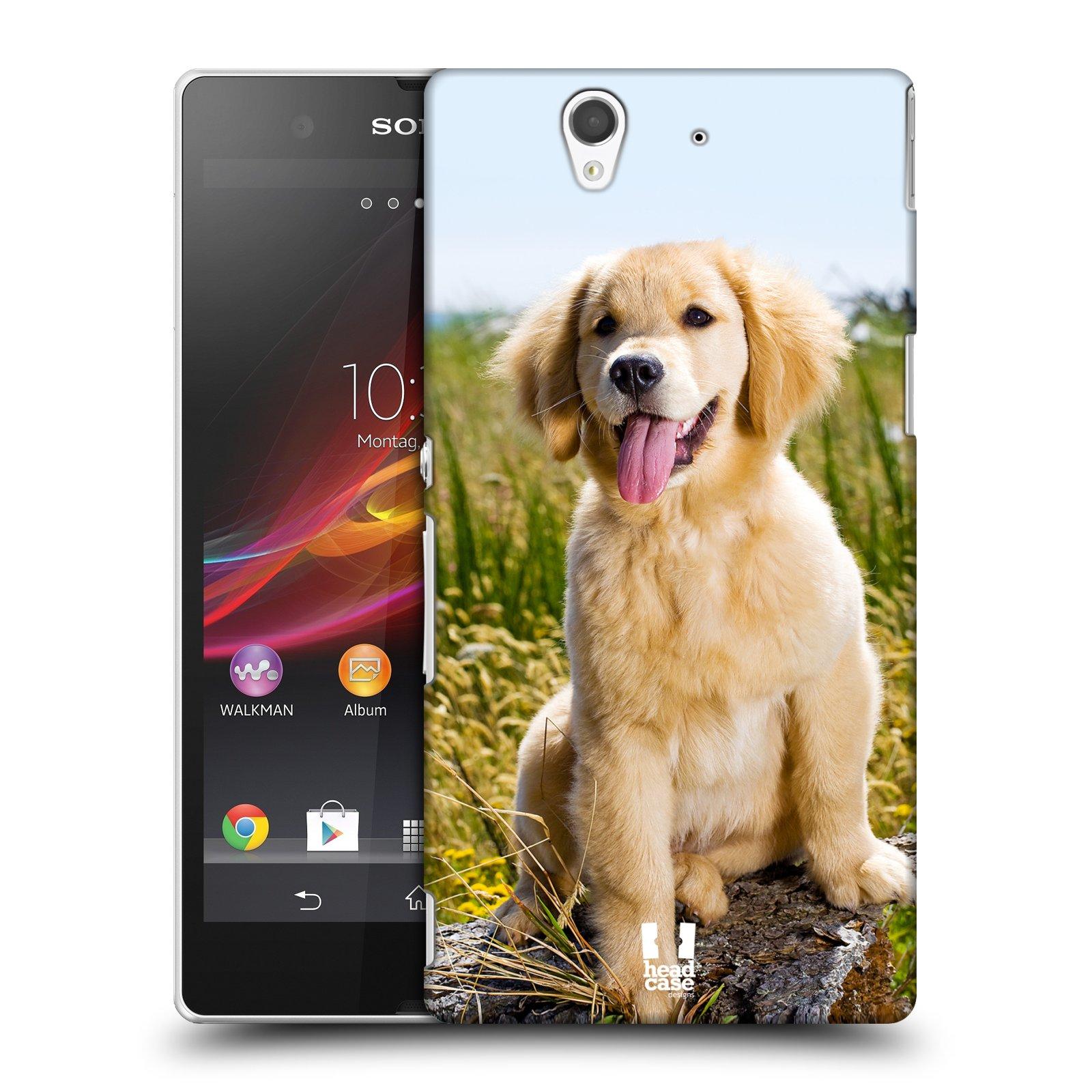 Plastové pouzdro na mobil Sony Xperia Z C6603 HEAD CASE RETRÍVR (Kryt či obal na mobilní telefon Sony Xperia Z )
