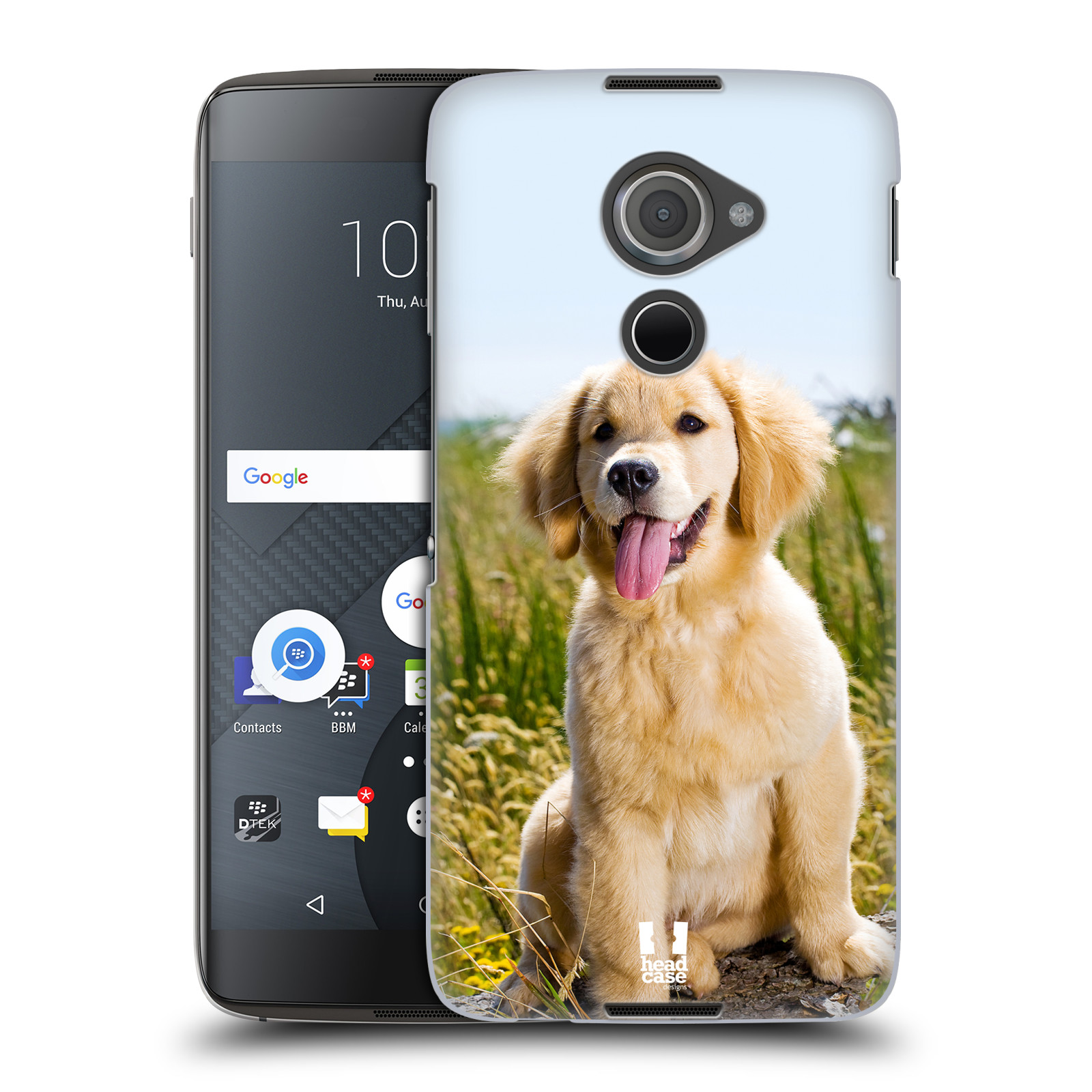Plastové pouzdro na mobil Blackberry DTEK60 (Argon) - Head Case RETRÍVR (Plastový kryt či obal na mobilní telefon Blackberry DTEK60 (Argon))