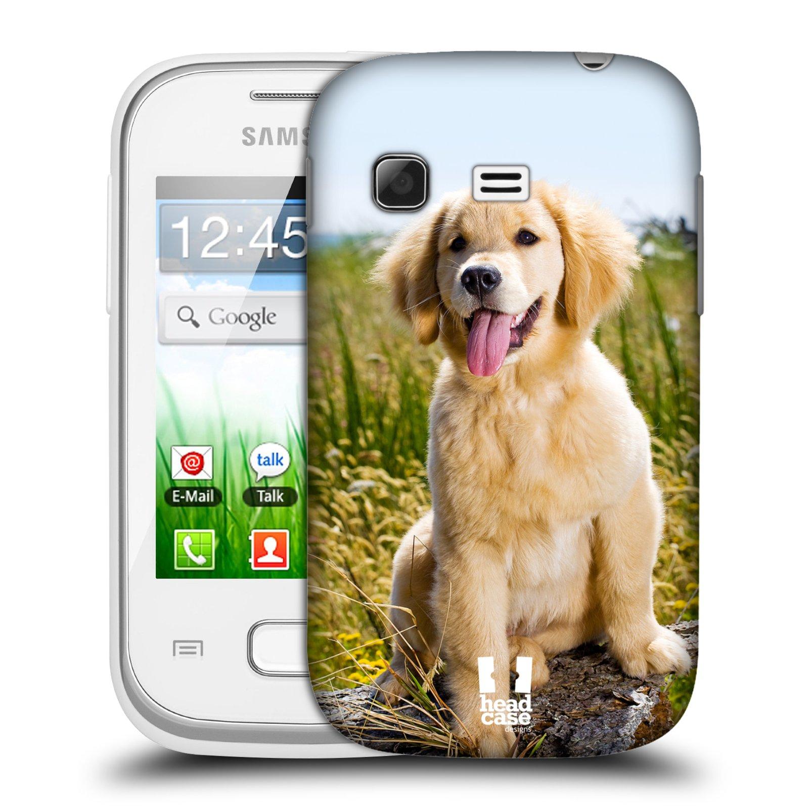 Plastové pouzdro na mobil Samsung Galaxy Pocket HEAD CASE RETRÍVR (Kryt či obal na mobilní telefon Samsung Galaxy Pocket GT-S5300)