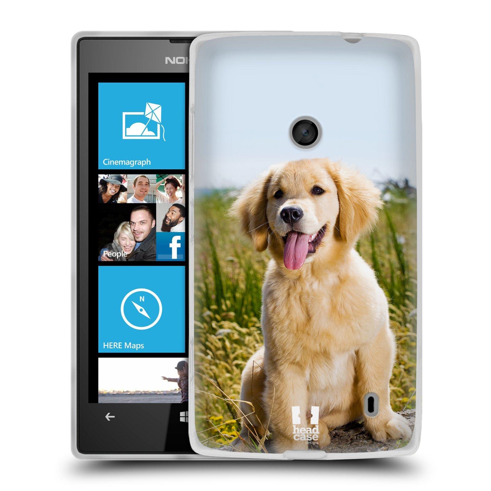 Silikonové pouzdro na mobil Nokia Lumia 520 HEAD CASE RETRÍVR (Silikonový Kryt či obal na mobilní telefon Nokia Lumia 520)