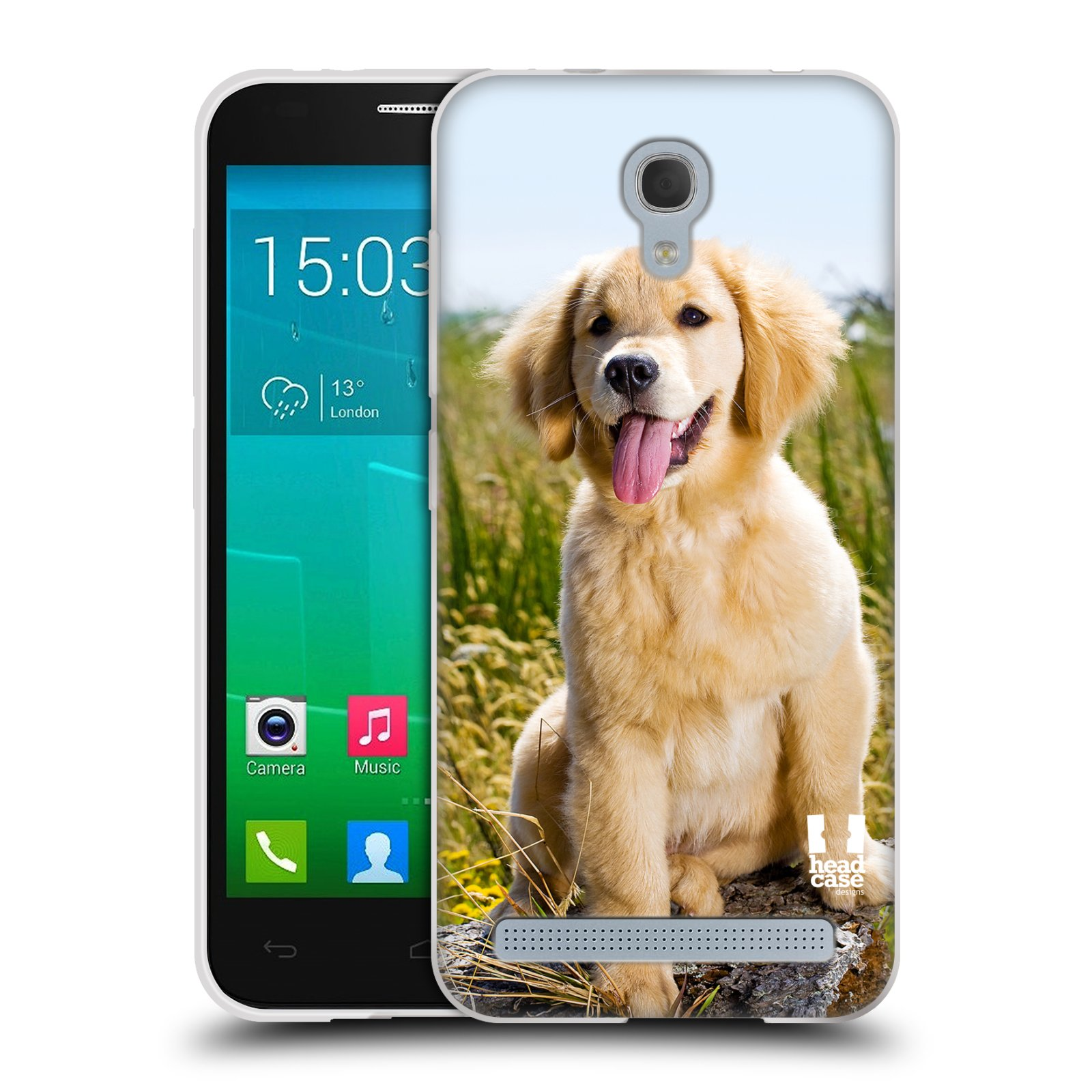 Silikonové pouzdro na mobil Alcatel One Touch Idol 2 Mini S 6036Y HEAD CASE RETRÍVR