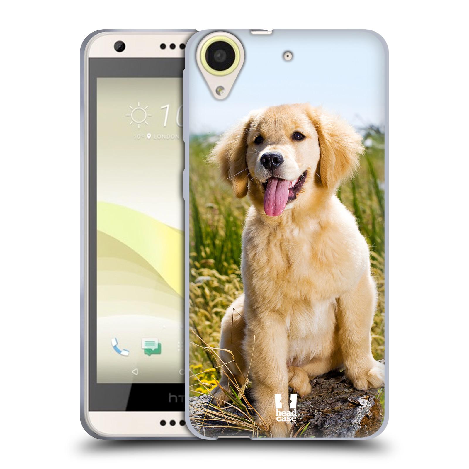 Silikonové pouzdro na mobil HTC Desire 650 HEAD CASE RETRÍVR (Silikonový kryt či obal na mobilní telefon HTC Desire 650)