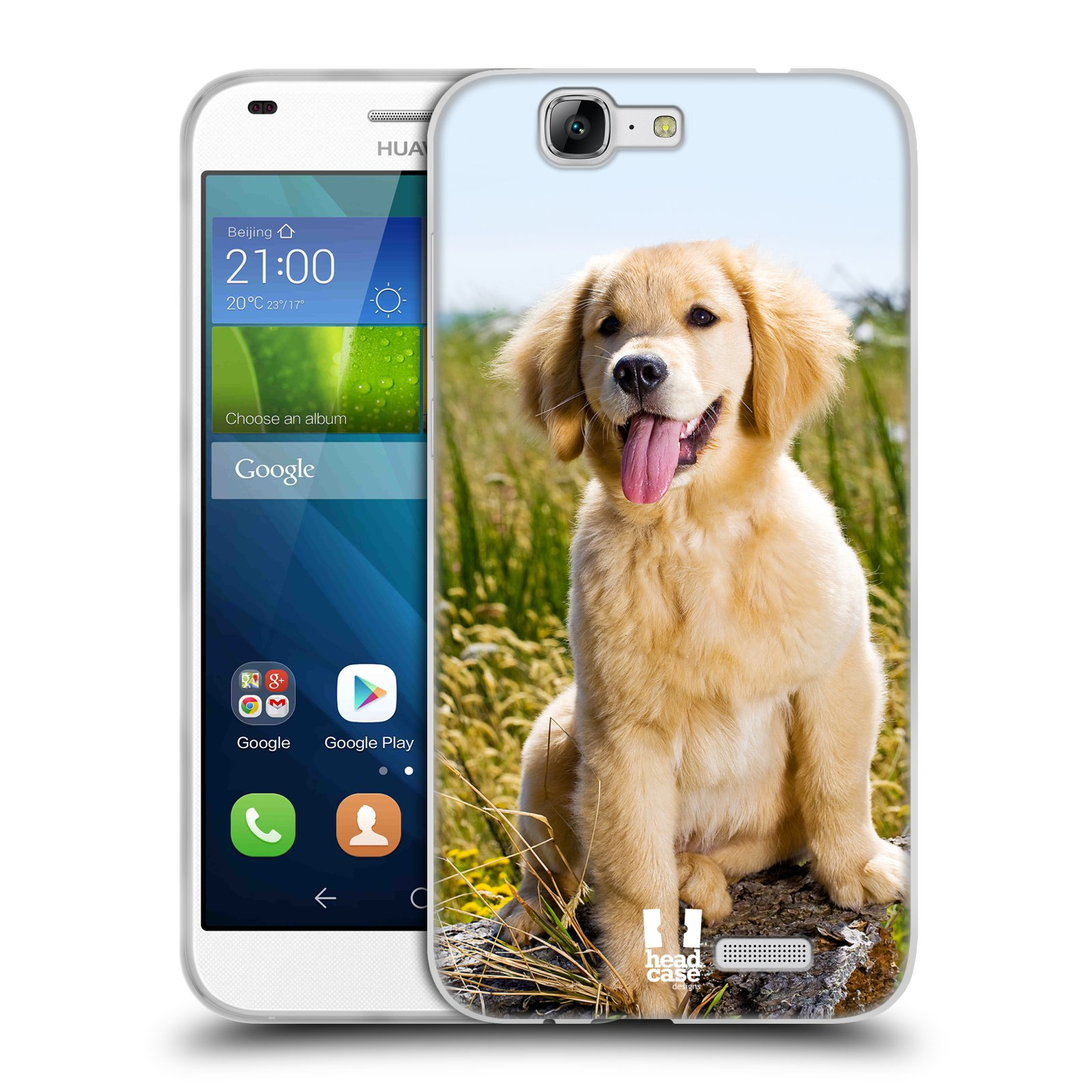 Silikonové pouzdro na mobil Huawei Ascend G7 HEAD CASE RETRÍVR (Silikonový kryt či obal na mobilní telefon Huawei Ascend G7)