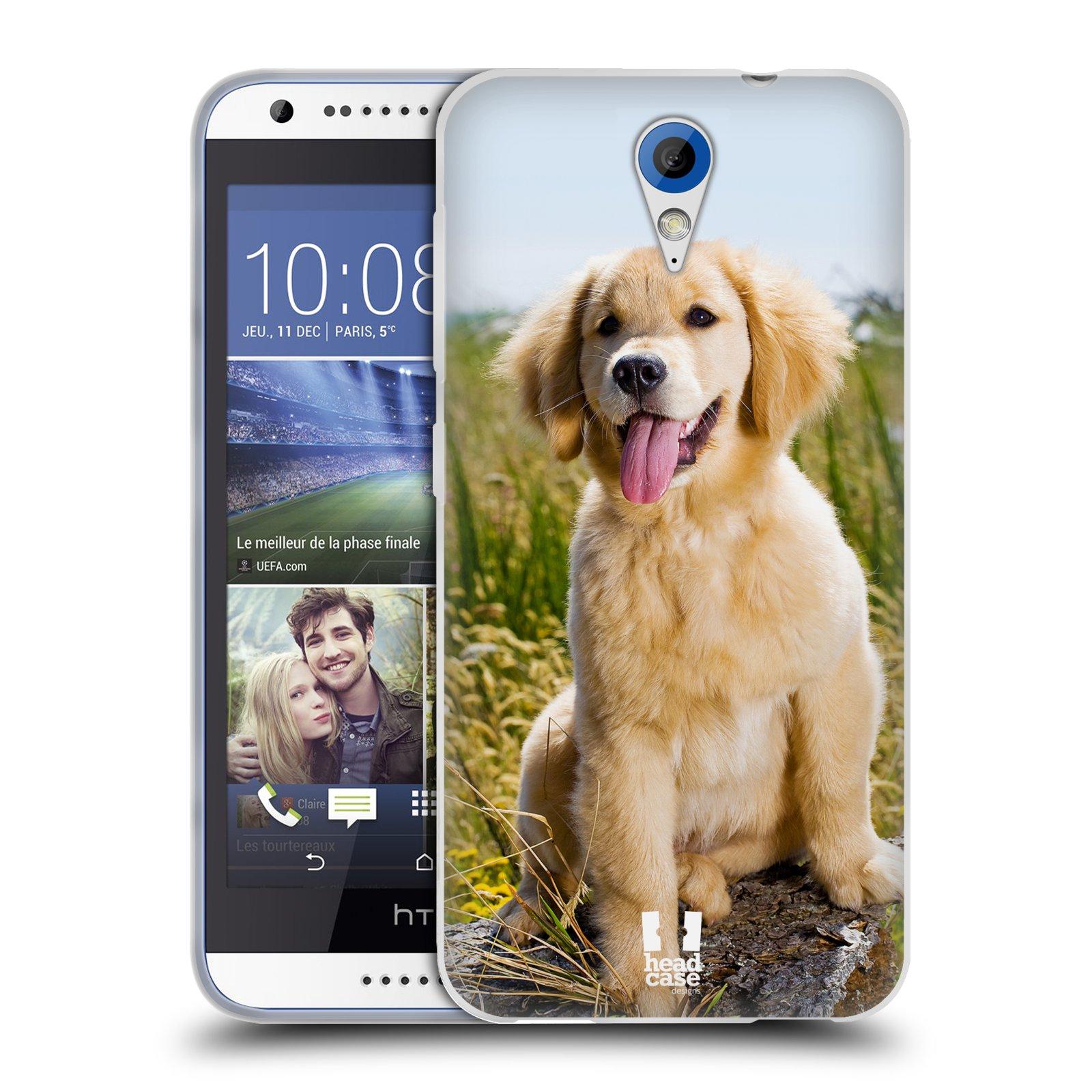 Silikonové pouzdro na mobil HTC Desire 620 HEAD CASE RETRÍVR (Silikonový kryt či obal na mobilní telefon HTC Desire 620)