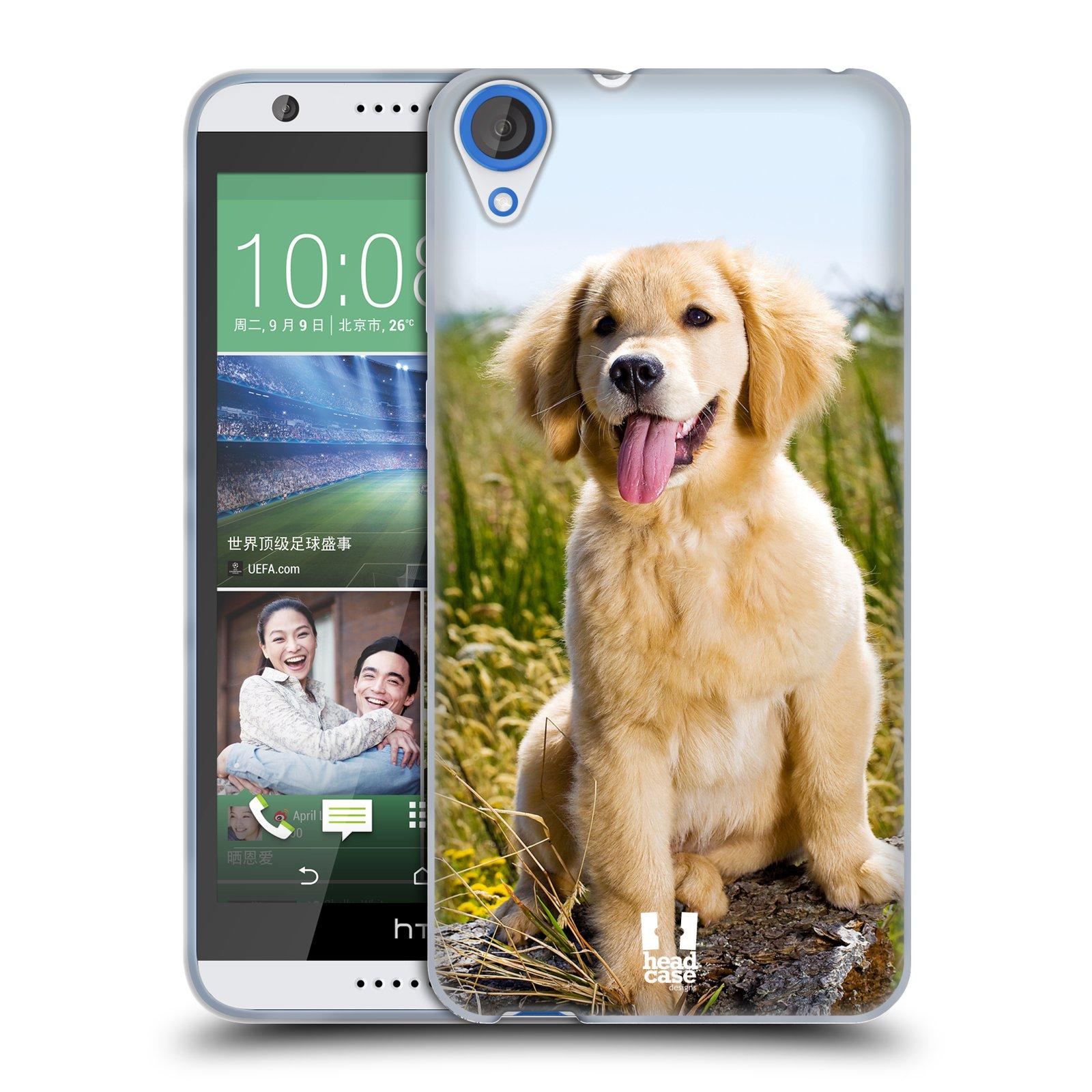 Silikonové pouzdro na mobil HTC Desire 820 HEAD CASE RETRÍVR (Silikonový kryt či obal na mobilní telefon HTC Desire 820)