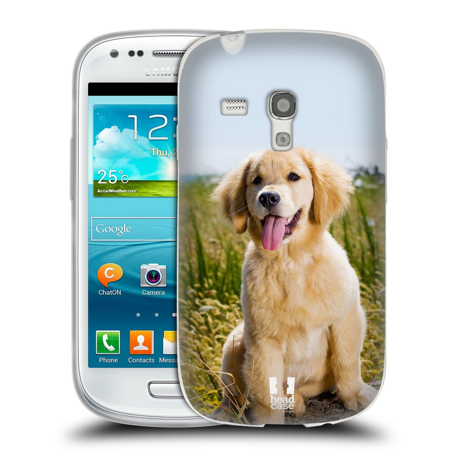 Silikonové pouzdro na mobil Samsung Galaxy S III Mini HEAD CASE RETRÍVR (Silikonový kryt či obal na mobilní telefon Samsung Galaxy S III Mini GT-i8190)