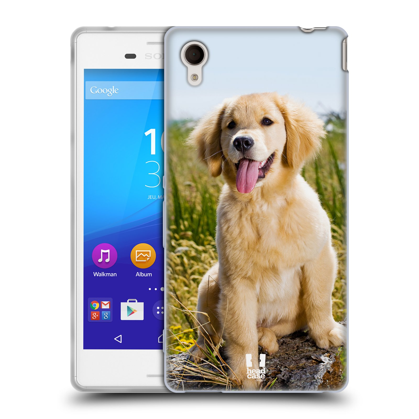 Silikonové pouzdro na mobil Sony Xperia M4 Aqua E2303 HEAD CASE RETRÍVR (Silikonový kryt či obal na mobilní telefon Sony Xperia M4 Aqua a M4 Aqua Dual SIM)