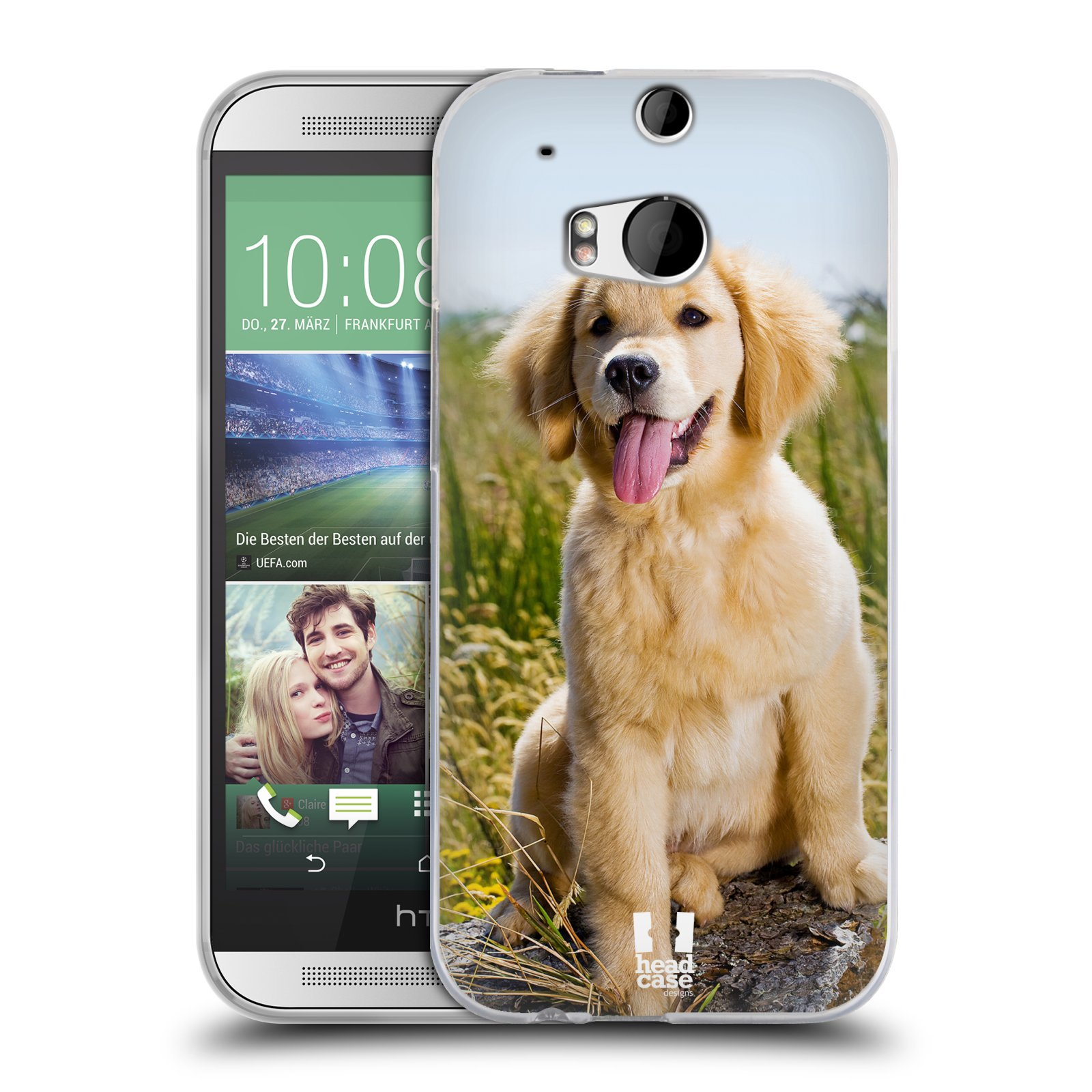 Silikonové pouzdro na mobil HTC ONE M8 HEAD CASE RETRÍVR (Silikonový kryt či obal na mobilní telefon HTC ONE M8)