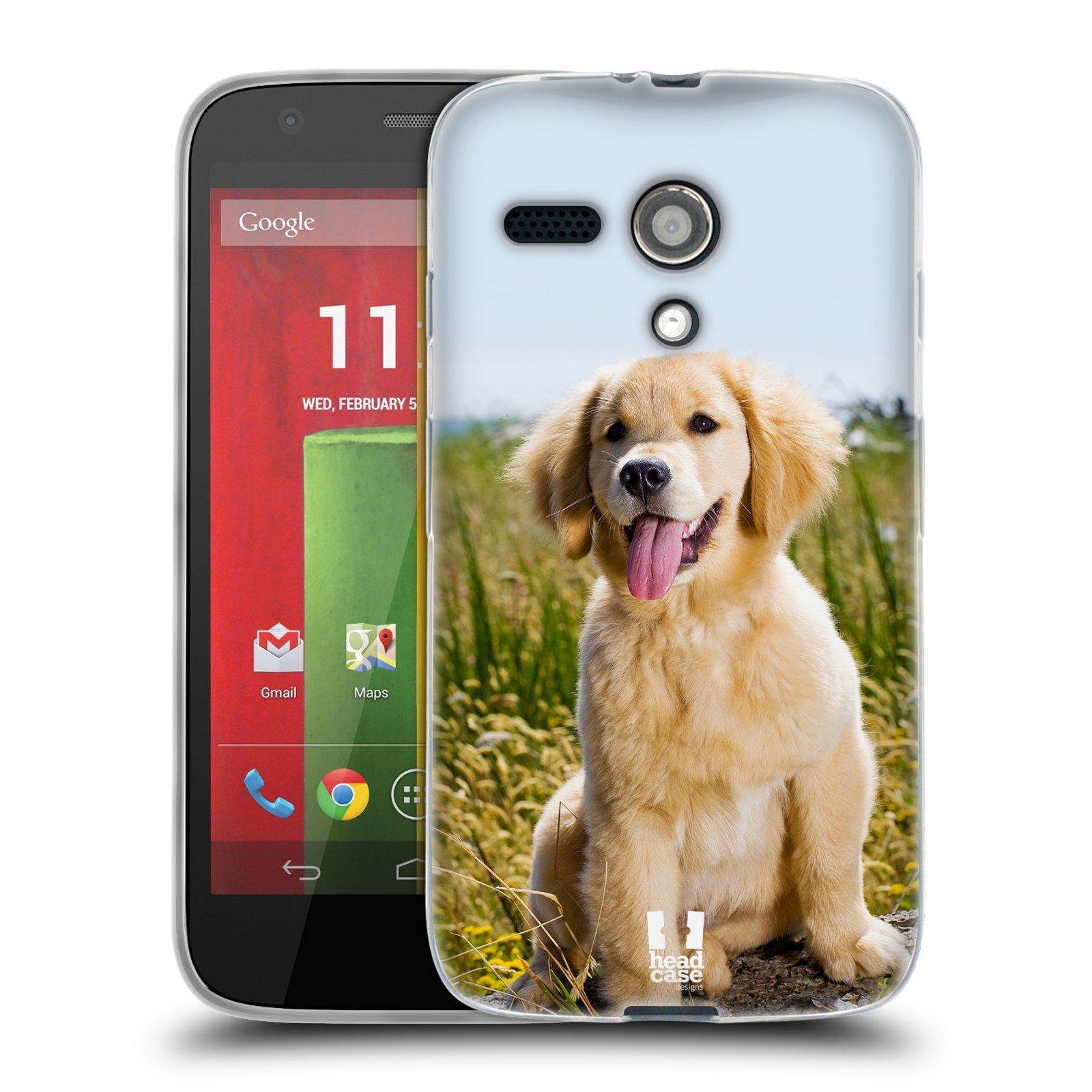 Silikonové pouzdro na mobil Motorola Moto G HEAD CASE RETRÍVR (Silikonový kryt či obal na mobilní telefon Motorola Moto G)