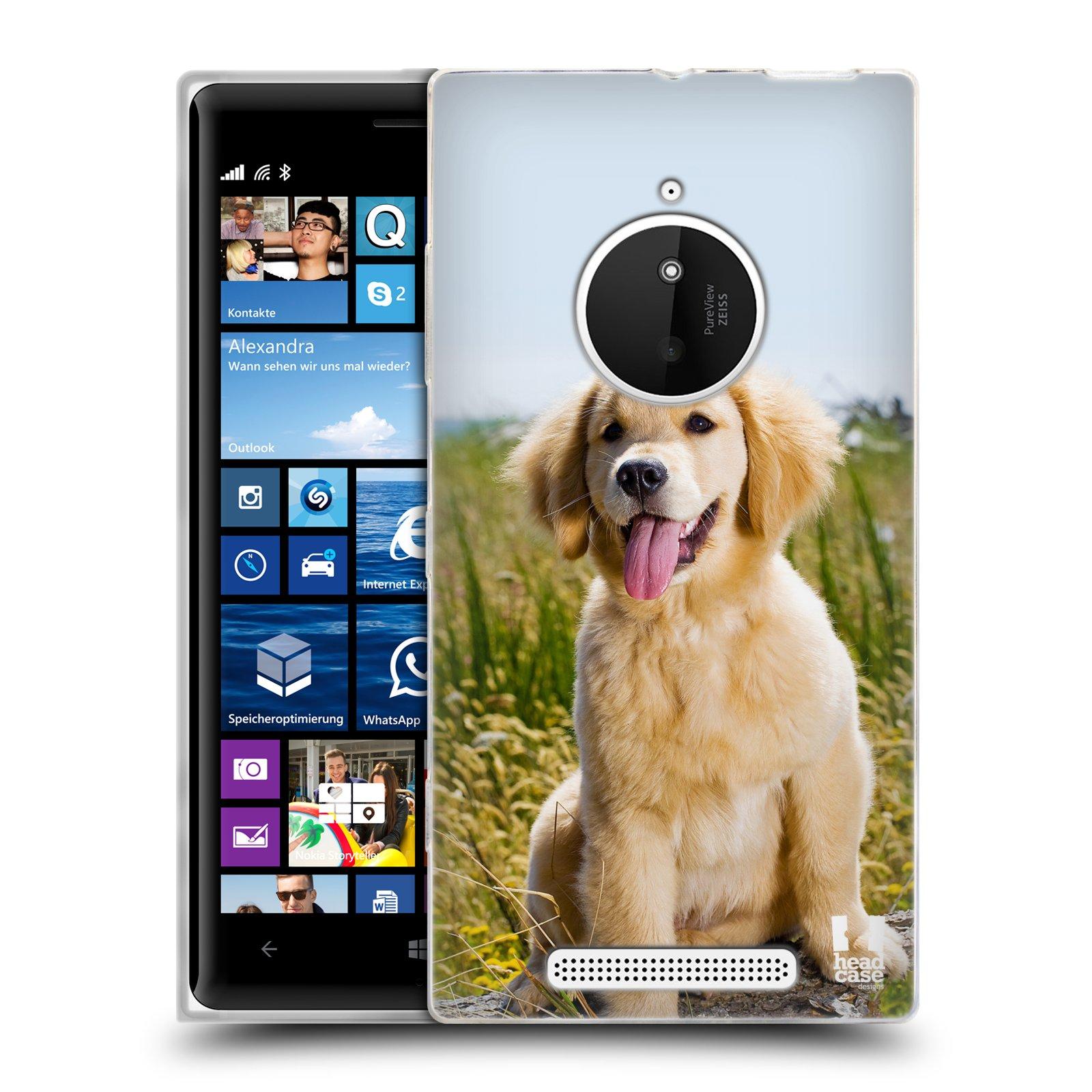 Silikonové pouzdro na mobil Nokia Lumia 830 HEAD CASE RETRÍVR (Silikonový kryt či obal na mobilní telefon Nokia Lumia 830)