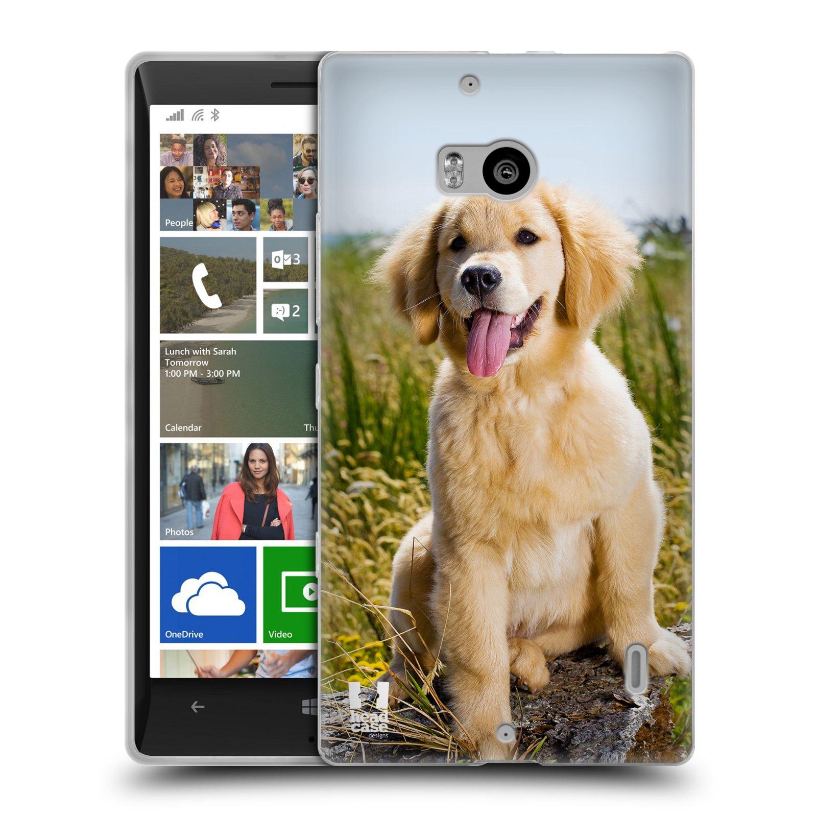 Silikonové pouzdro na mobil Nokia Lumia 930 HEAD CASE RETRÍVR (Silikonový kryt či obal na mobilní telefon Nokia Lumia 930)