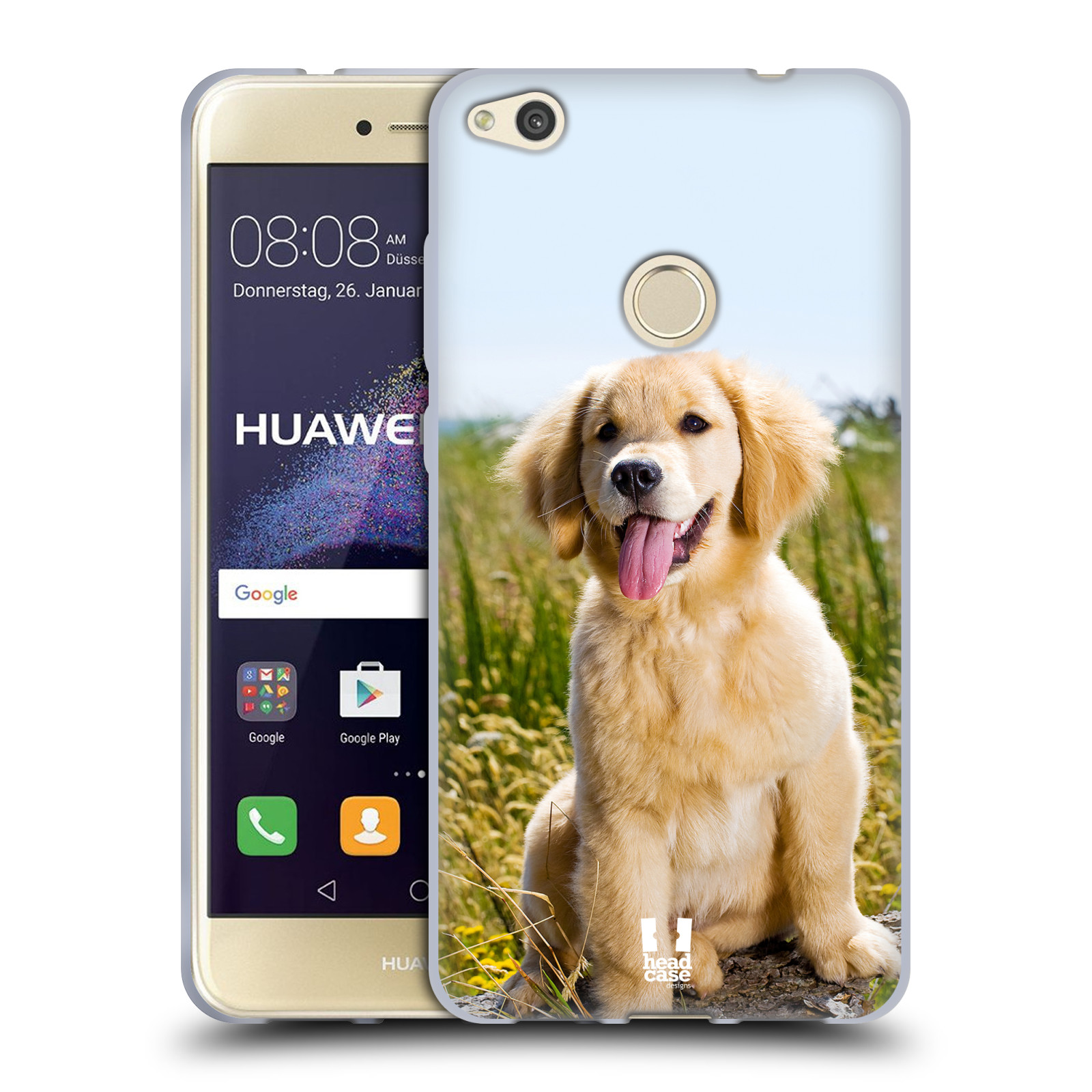 Silikonové pouzdro na mobil Huawei P9 Lite (2017) HEAD CASE RETRÍVR