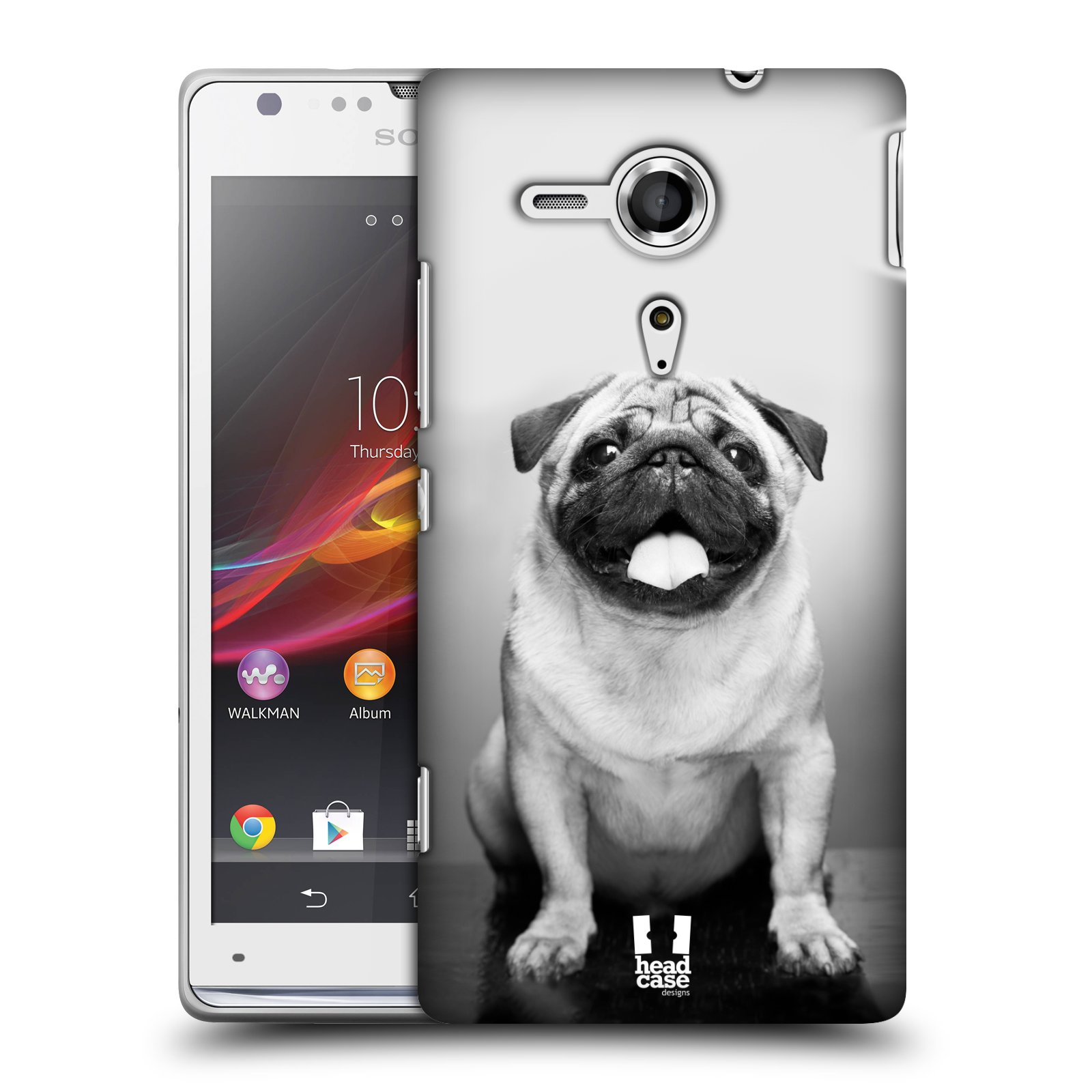 Plastové pouzdro na mobil Sony Xperia SP C5303 HEAD CASE MOPSÍK (Kryt či obal na mobilní telefon Sony Xperia SP )