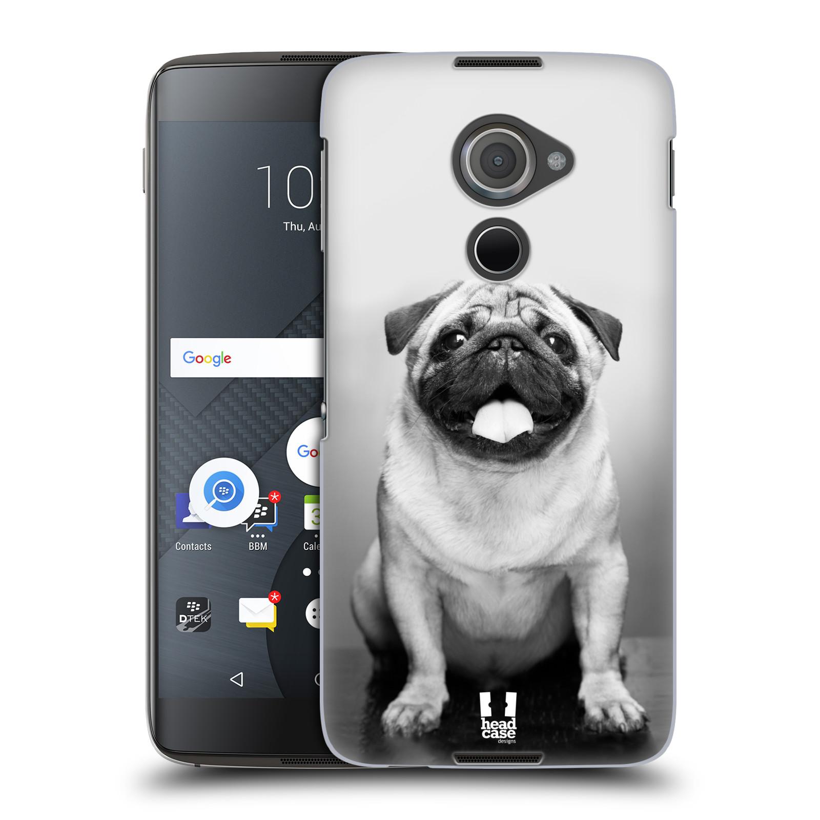 Plastové pouzdro na mobil Blackberry DTEK60 (Argon) - Head Case MOPSÍK (Plastový kryt či obal na mobilní telefon Blackberry DTEK60 (Argon))