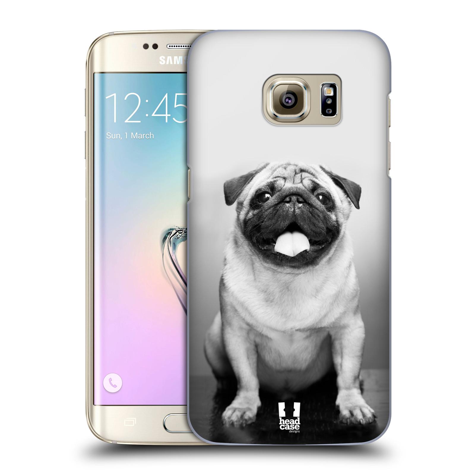 Plastové pouzdro na mobil Samsung Galaxy S7 Edge HEAD CASE MOPSÍK (Kryt či obal na mobilní telefon Samsung Galaxy S7 Edge SM-G935F)