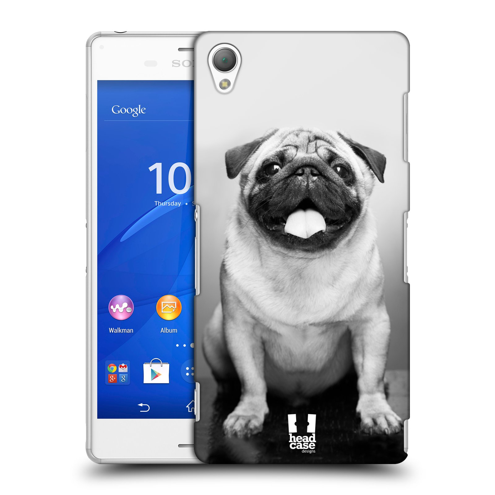 Plastové pouzdro na mobil Sony Xperia Z3 D6603 HEAD CASE MOPSÍK (Kryt či obal na mobilní telefon Sony Xperia Z3 )