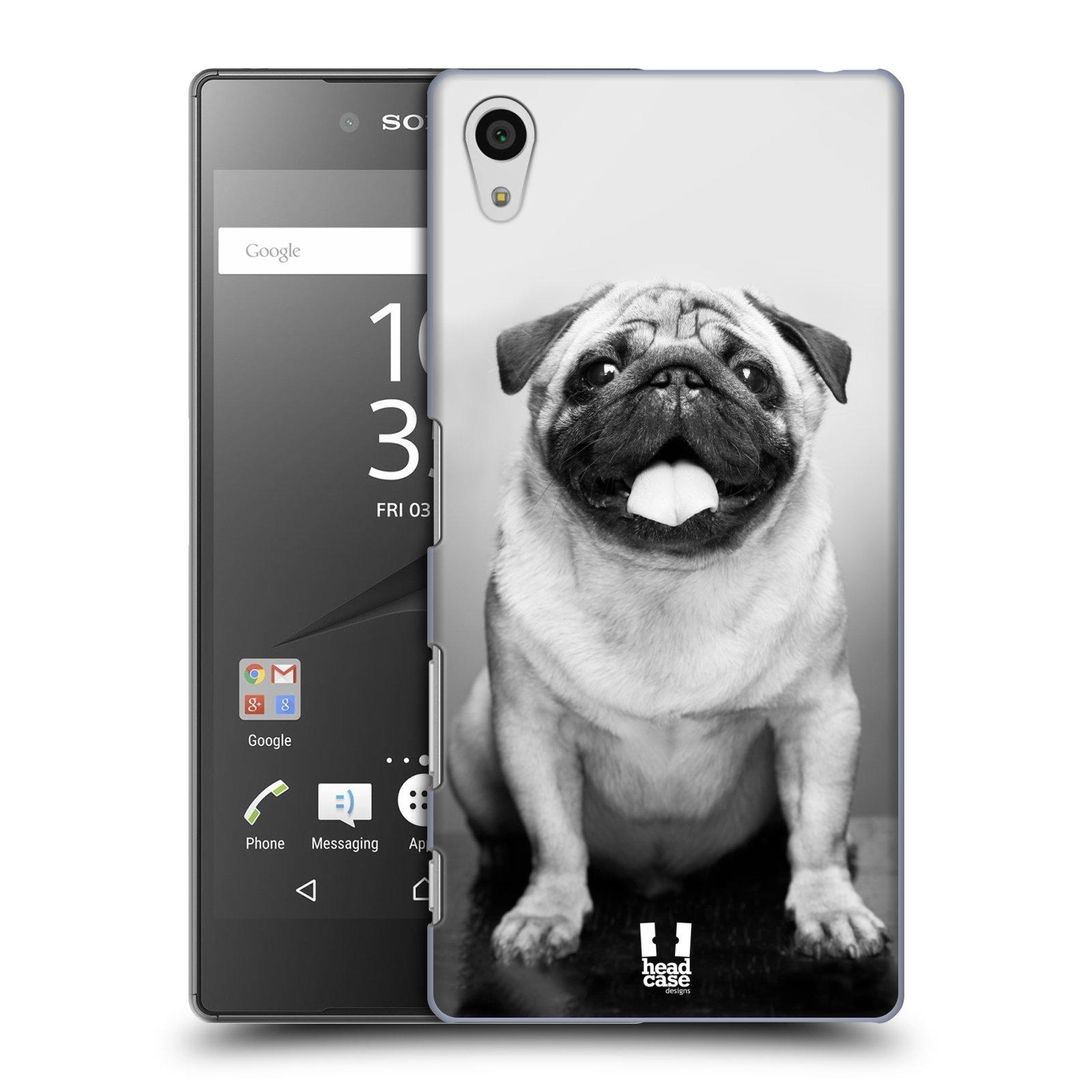 Plastové pouzdro na mobil Sony Xperia Z5 HEAD CASE MOPSÍK (Kryt či obal na mobilní telefon Sony Xperia Z5 E6653)