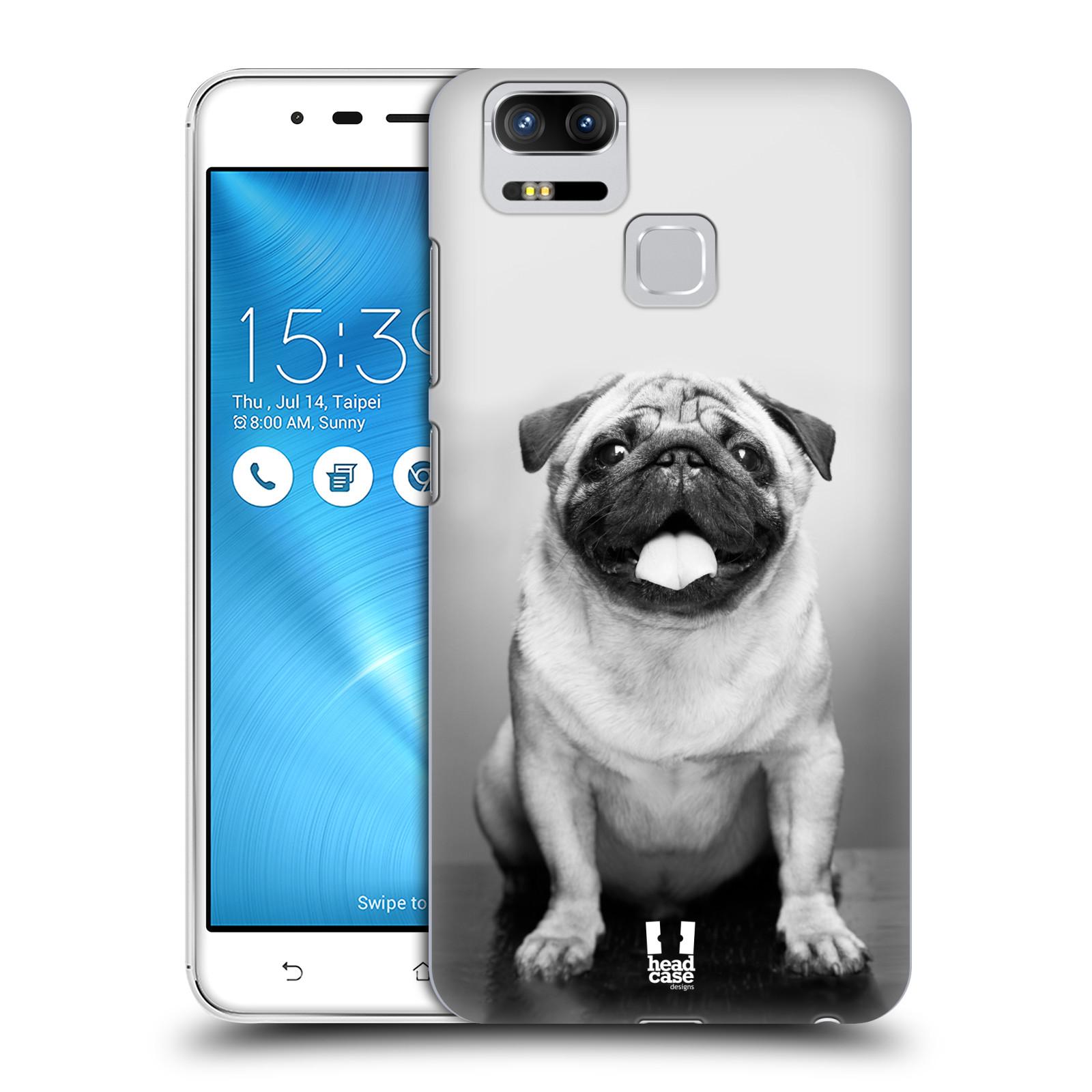 Plastové pouzdro na mobil Asus ZenFone 3 ZOOM ZE553KL - Head Case - MOPSÍK (Plastový kryt či obal na mobilní telefon Asus ZenFone 3 ZOOM ZE553KL s motivem MOPSÍK)