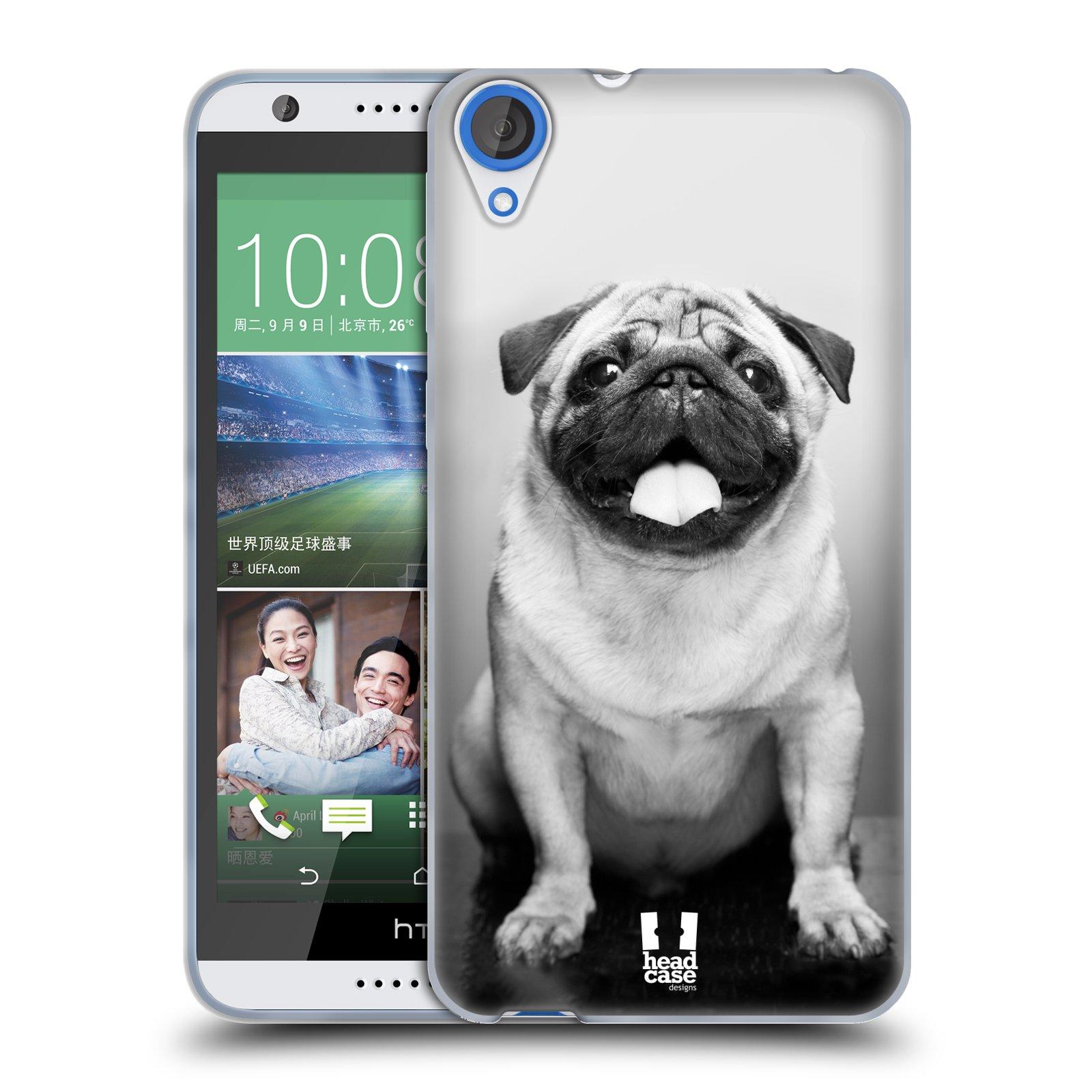 Silikonové pouzdro na mobil HTC Desire 820 HEAD CASE MOPSÍK (Silikonový kryt či obal na mobilní telefon HTC Desire 820)