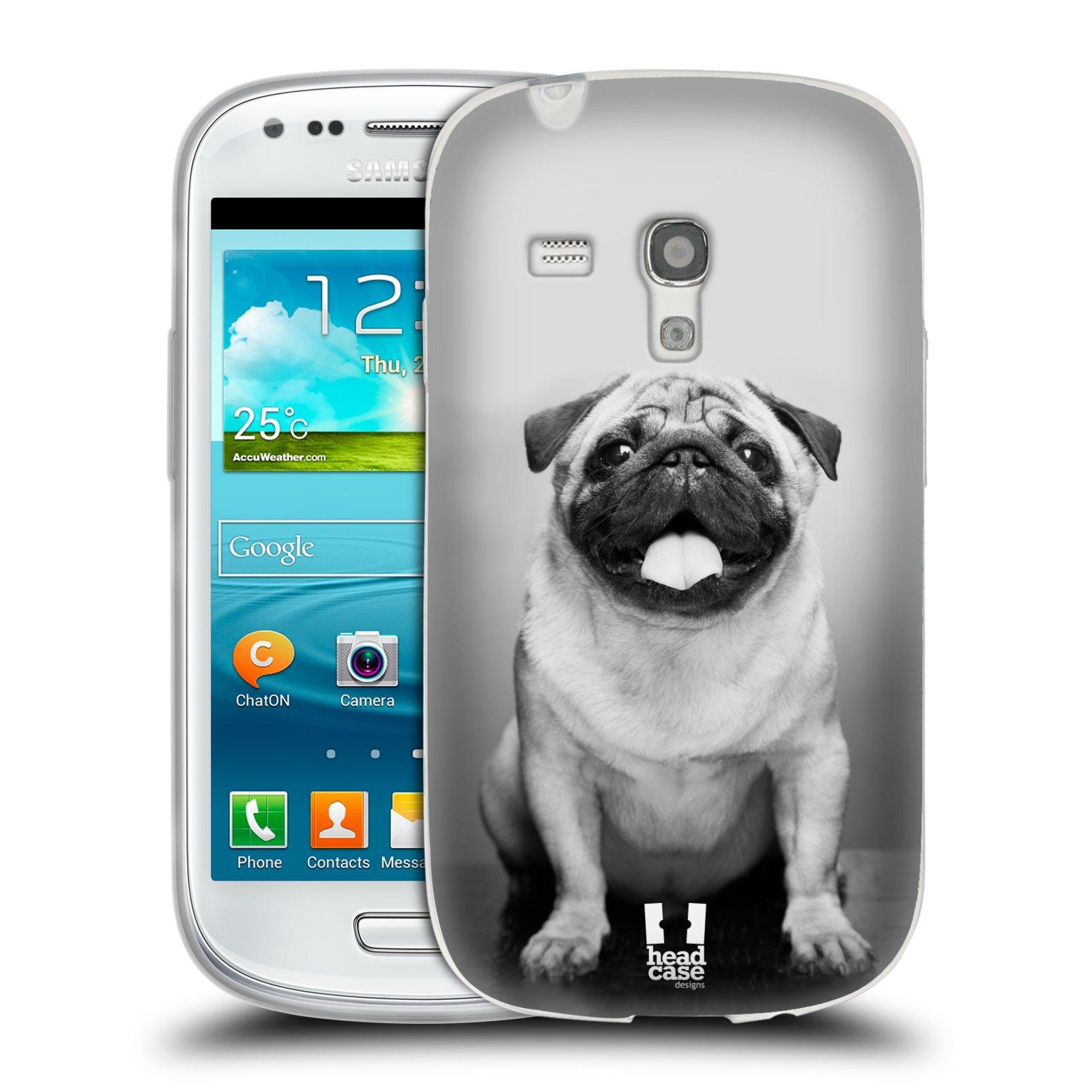 Silikonové pouzdro na mobil Samsung Galaxy S III Mini HEAD CASE MOPSÍK (Silikonový kryt či obal na mobilní telefon Samsung Galaxy S III Mini GT-i8190)