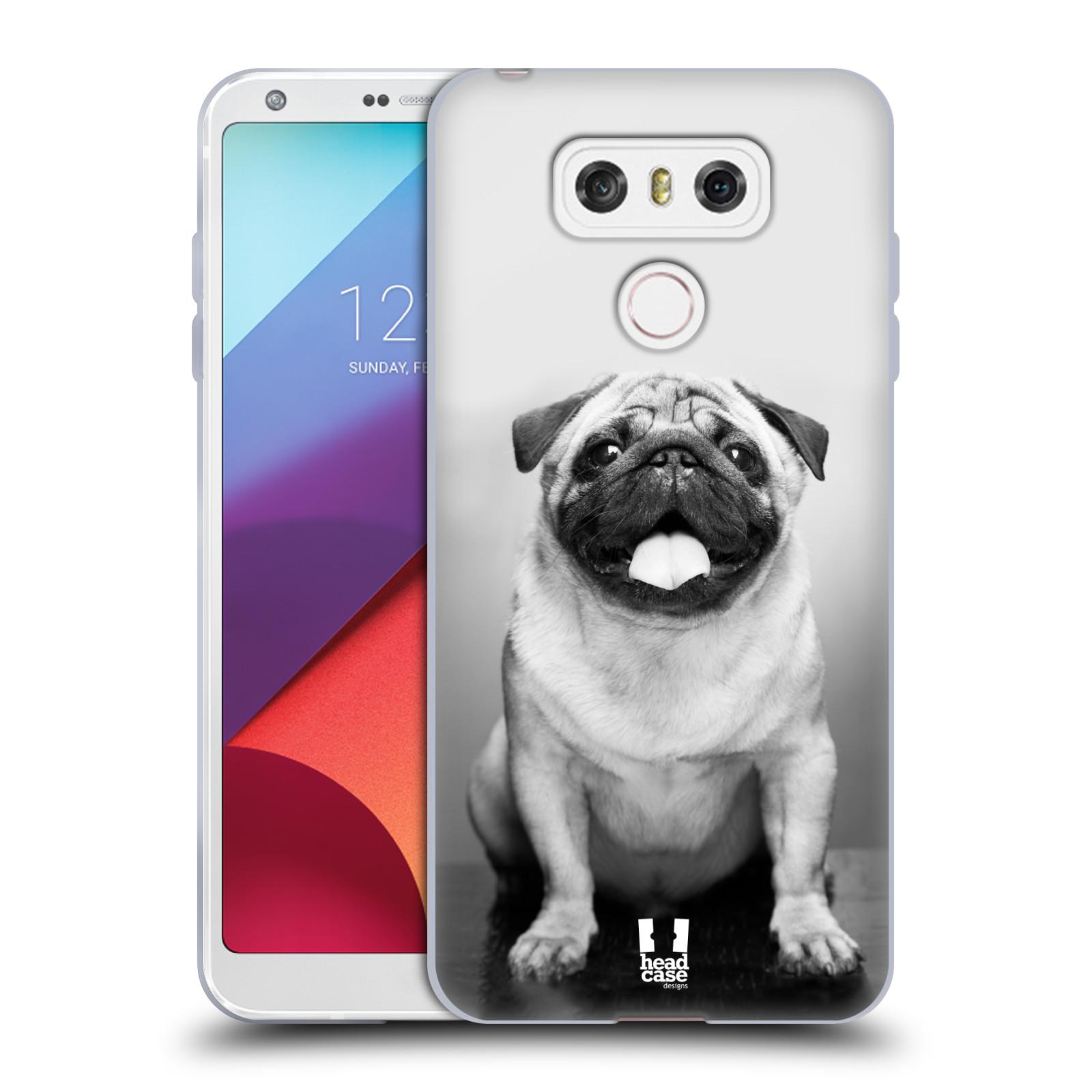 Silikonové pouzdro na mobil LG G6 - Head Case MOPSÍK (Silikonový kryt či obal na mobilní telefon LG G6 H870 / LG G6 Dual SIM H870DS)