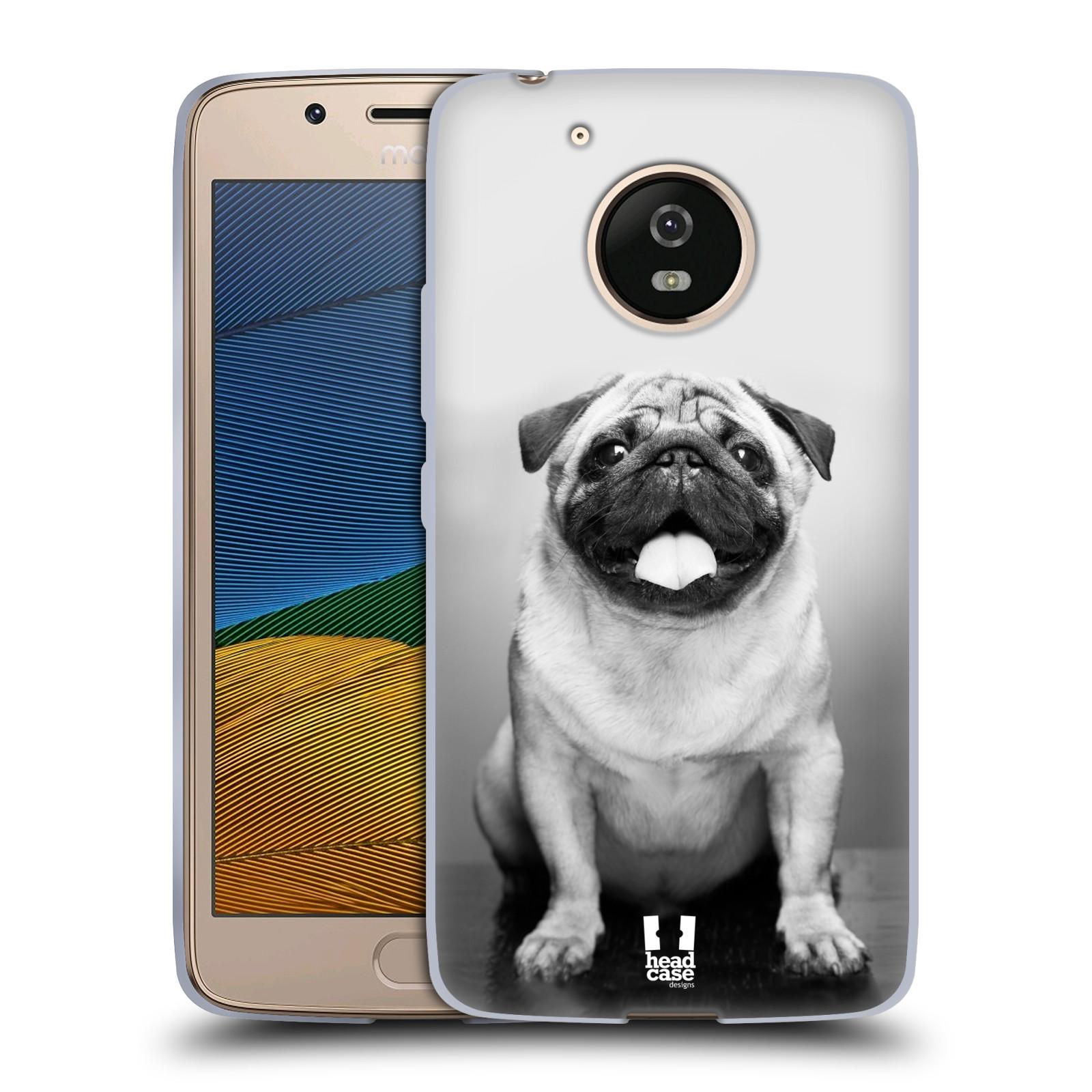 Silikonové pouzdro na mobil Lenovo Moto G5 - Head Case MOPSÍK (Silikonový kryt či obal na mobilní telefon Lenovo Moto G5)