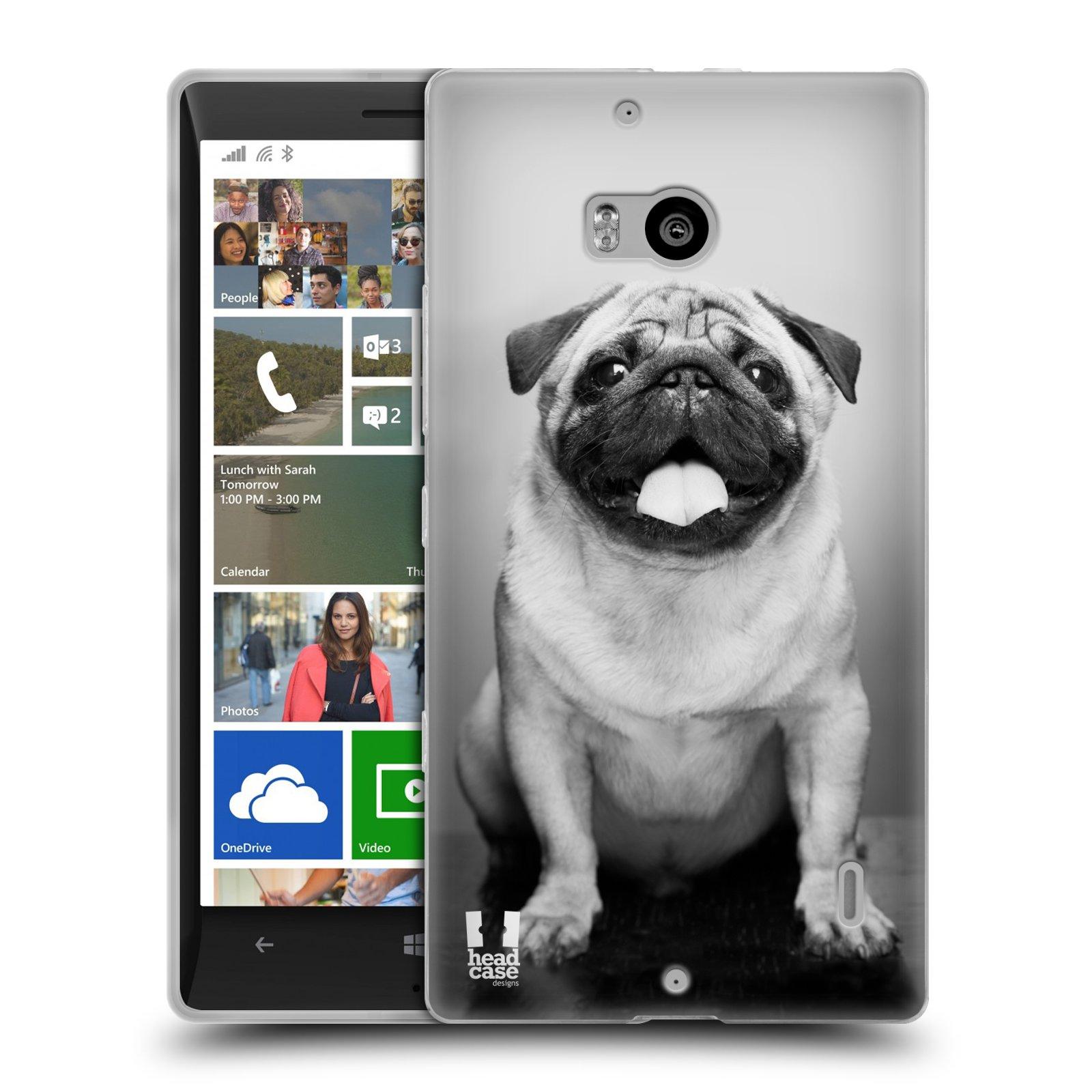 Silikonové pouzdro na mobil Nokia Lumia 930 HEAD CASE MOPSÍK (Silikonový kryt či obal na mobilní telefon Nokia Lumia 930)