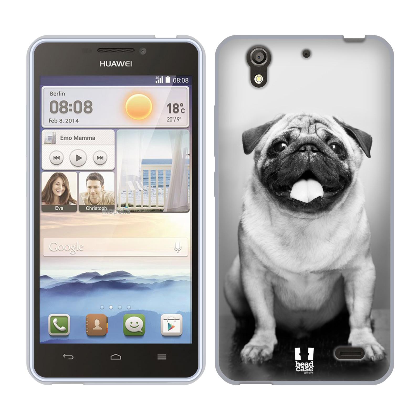 Silikonové pouzdro na mobil Huawei Ascend Y530 HEAD CASE MOPSÍK (Silikonový kryt či obal na mobilní telefon Huawei Ascend Y530)