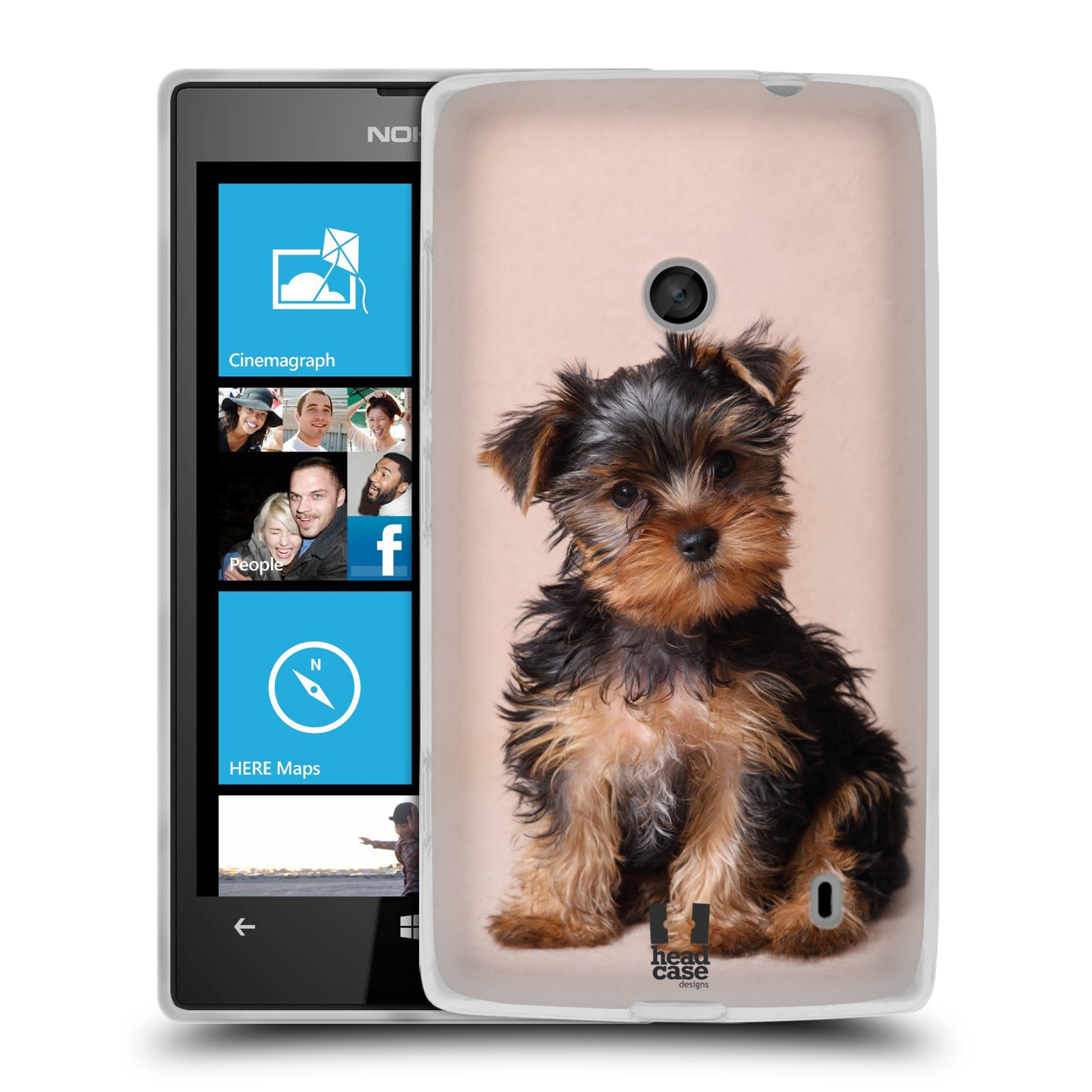 Silikonové pouzdro na mobil Nokia Lumia 520 HEAD CASE YORKŠÍR (Silikonový Kryt či obal na mobilní telefon Nokia Lumia 520)