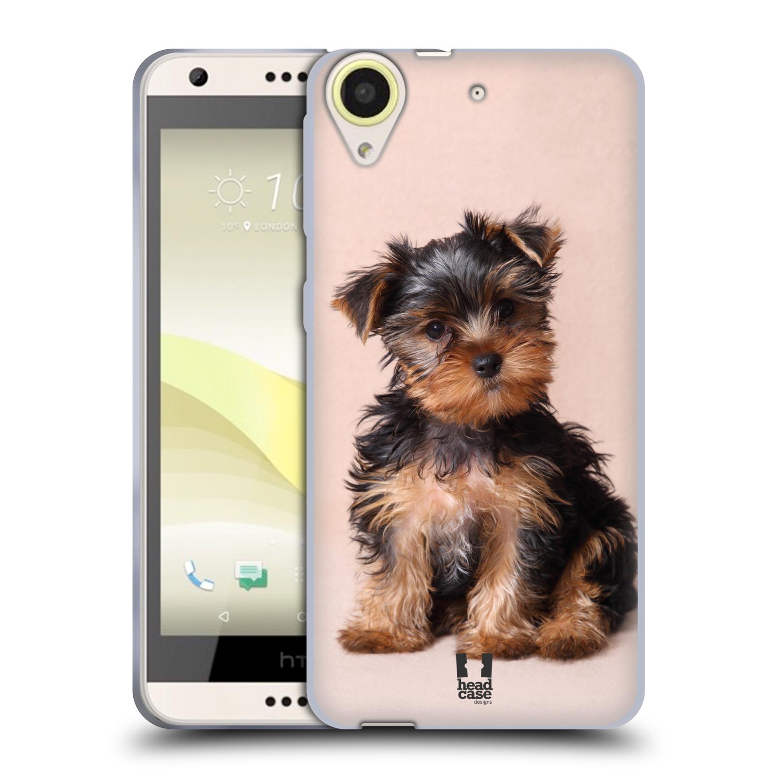 Silikonové pouzdro na mobil HTC Desire 650 HEAD CASE YORKŠÍR (Silikonový kryt či obal na mobilní telefon HTC Desire 650)