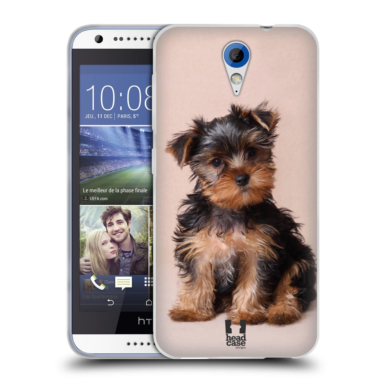 Silikonové pouzdro na mobil HTC Desire 620 HEAD CASE YORKŠÍR (Silikonový kryt či obal na mobilní telefon HTC Desire 620)