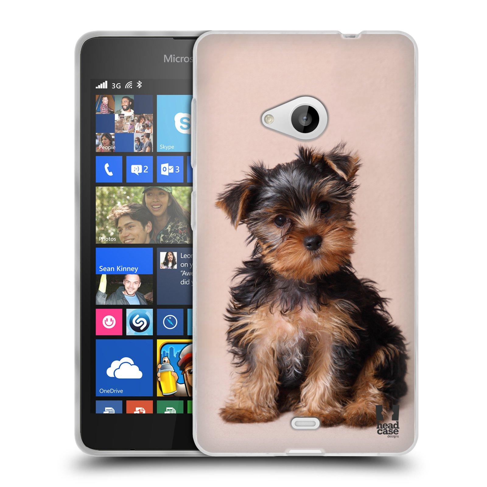 Silikonové pouzdro na mobil Microsoft Lumia 535 HEAD CASE YORKŠÍR (Silikonový kryt či obal na mobilní telefon Microsoft Lumia 535)