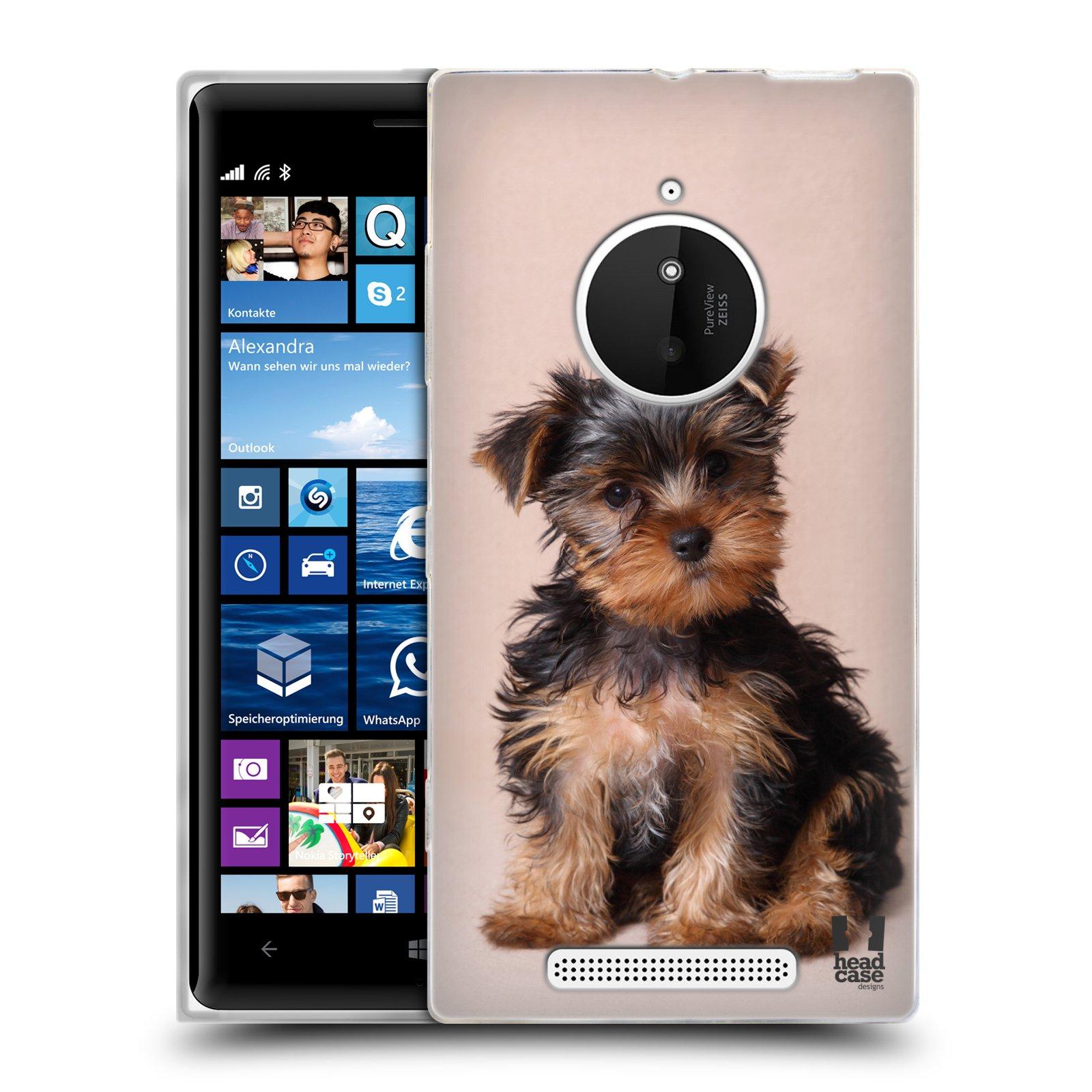 Silikonové pouzdro na mobil Nokia Lumia 830 HEAD CASE YORKŠÍR (Silikonový kryt či obal na mobilní telefon Nokia Lumia 830)