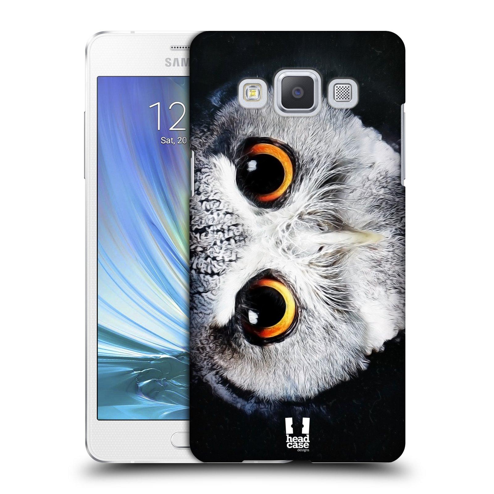 Plastové pouzdro na mobil Samsung Galaxy A5 HEAD CASE TVÁŘ SOVA