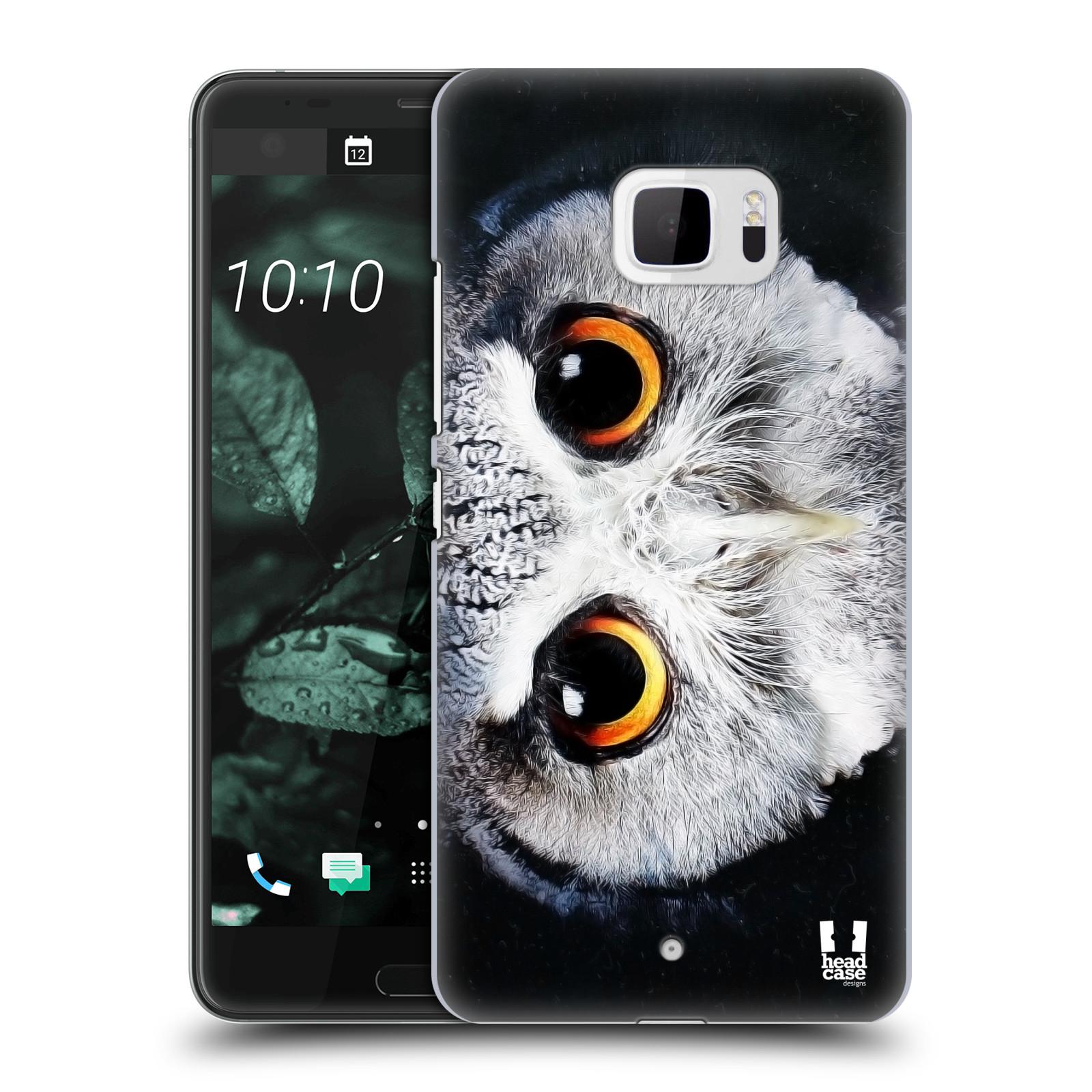 Plastové pouzdro na mobil HTC U Ultra Head Case - TVÁŘ SOVA (Plastový kryt či obal na mobilní telefon HTC U Ultra (99HALT015-00))