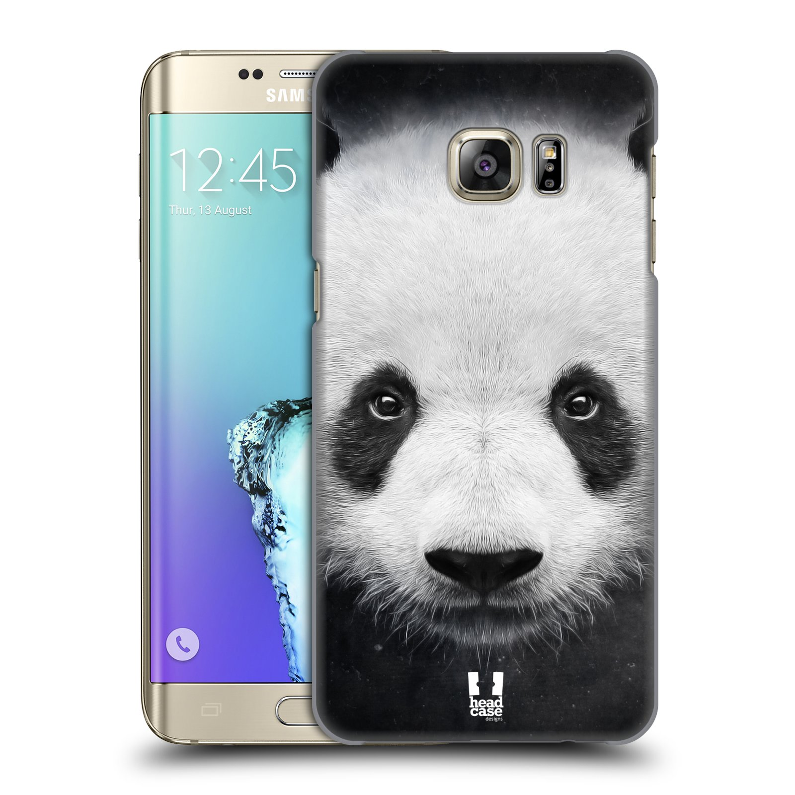 Plastové pouzdro na mobil Samsung Galaxy S6 Edge Plus HEAD CASE TVÁŘ PANDA