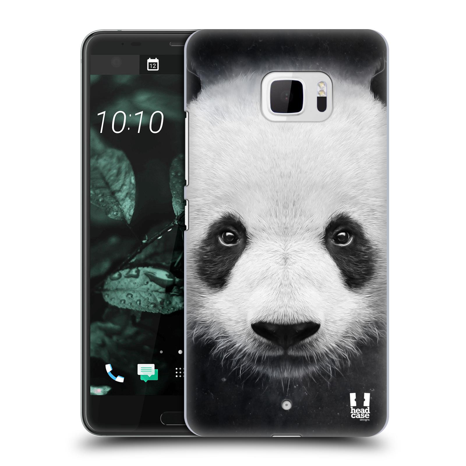 Plastové pouzdro na mobil HTC U Ultra Head Case - TVÁŘ PANDA (Plastový kryt či obal na mobilní telefon HTC U Ultra (99HALT015-00))