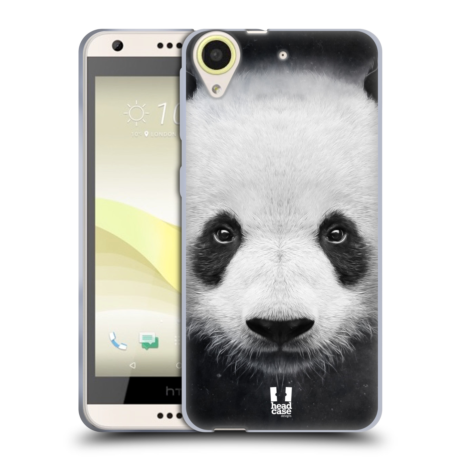 Silikonové pouzdro na mobil HTC Desire 650 HEAD CASE TVÁŘ PANDA