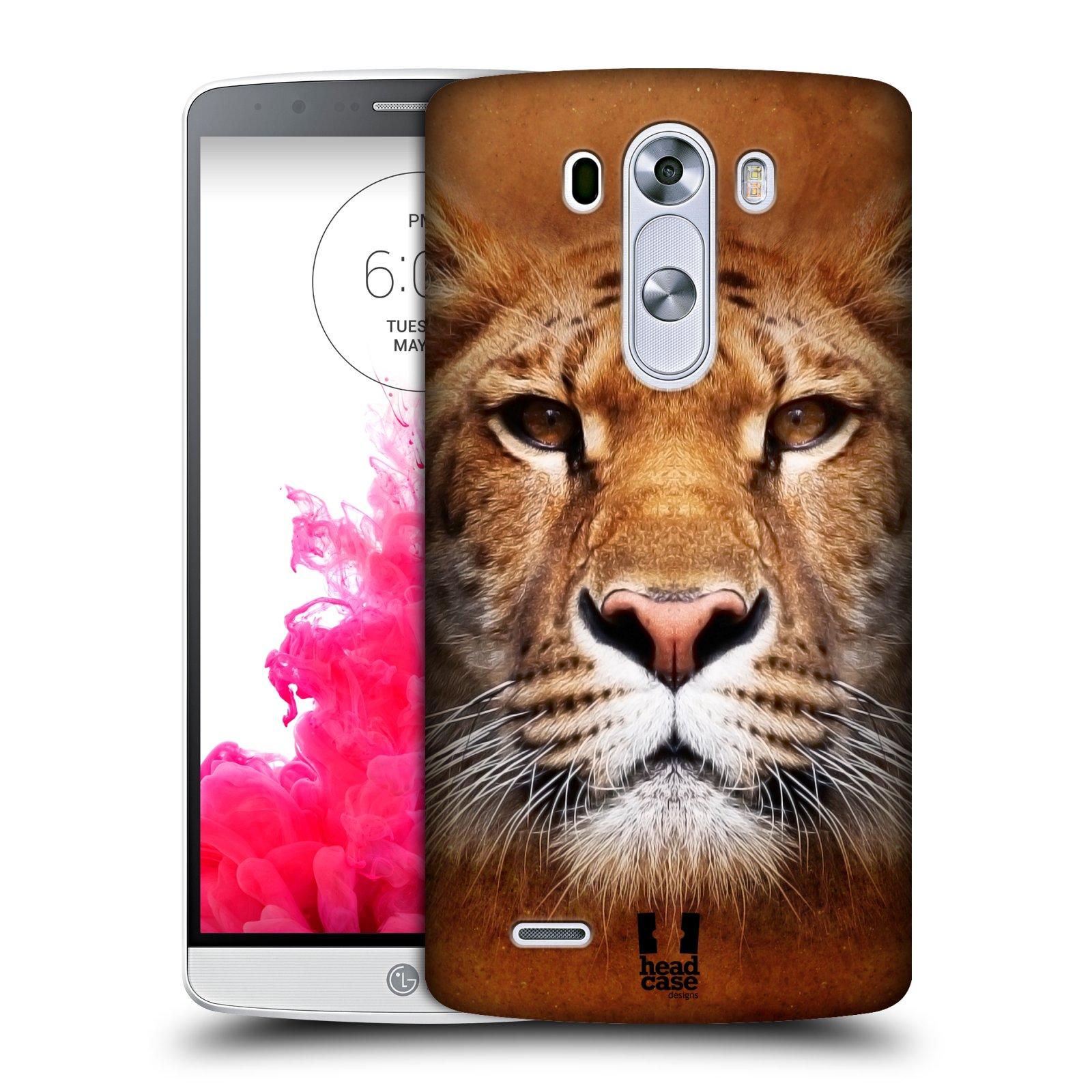 Plastové pouzdro na mobil LG G3 HEAD CASE TVÁŘ LIGER
