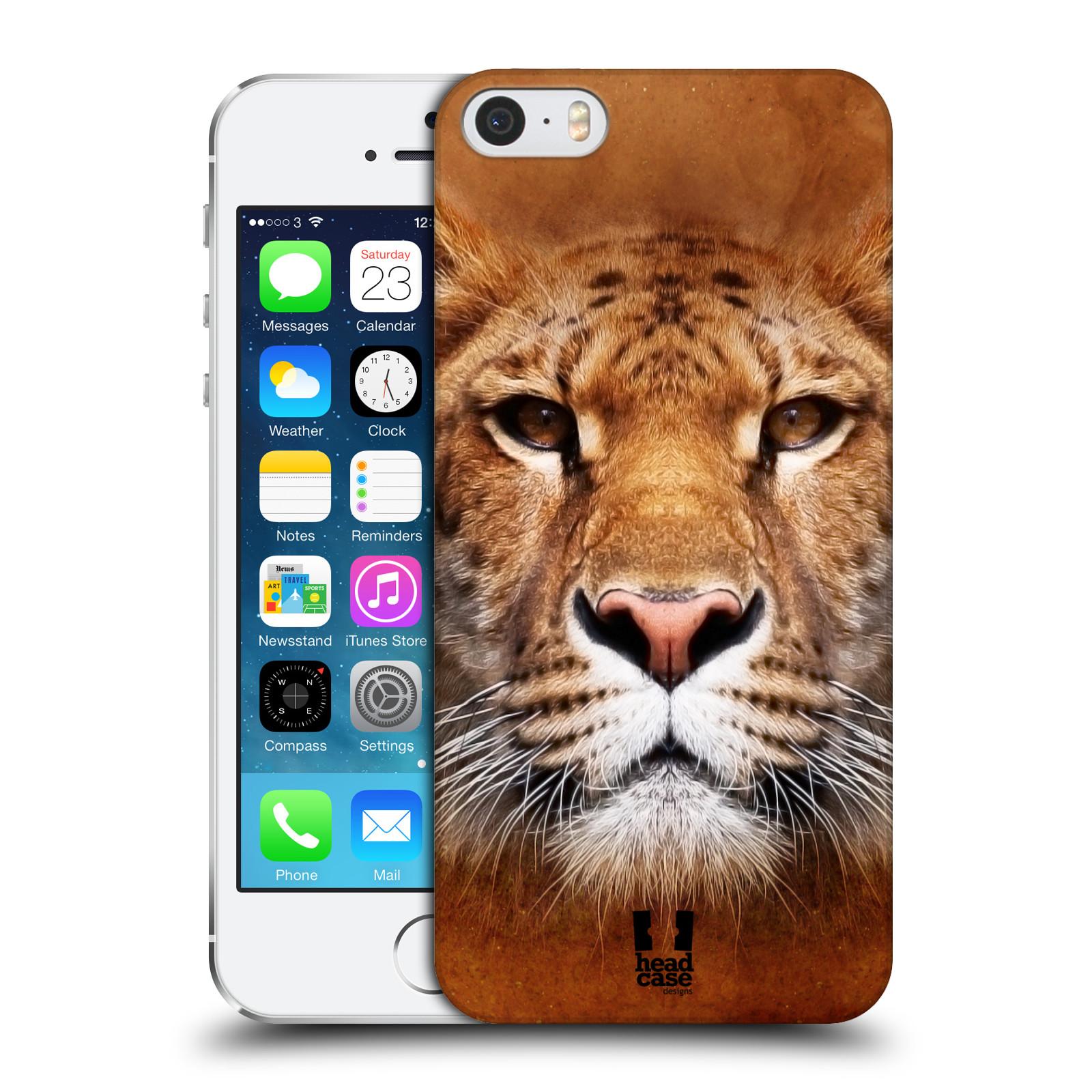Plastové pouzdro na mobil Apple iPhone SE, 5 a 5S HEAD CASE TVÁŘ LIGER