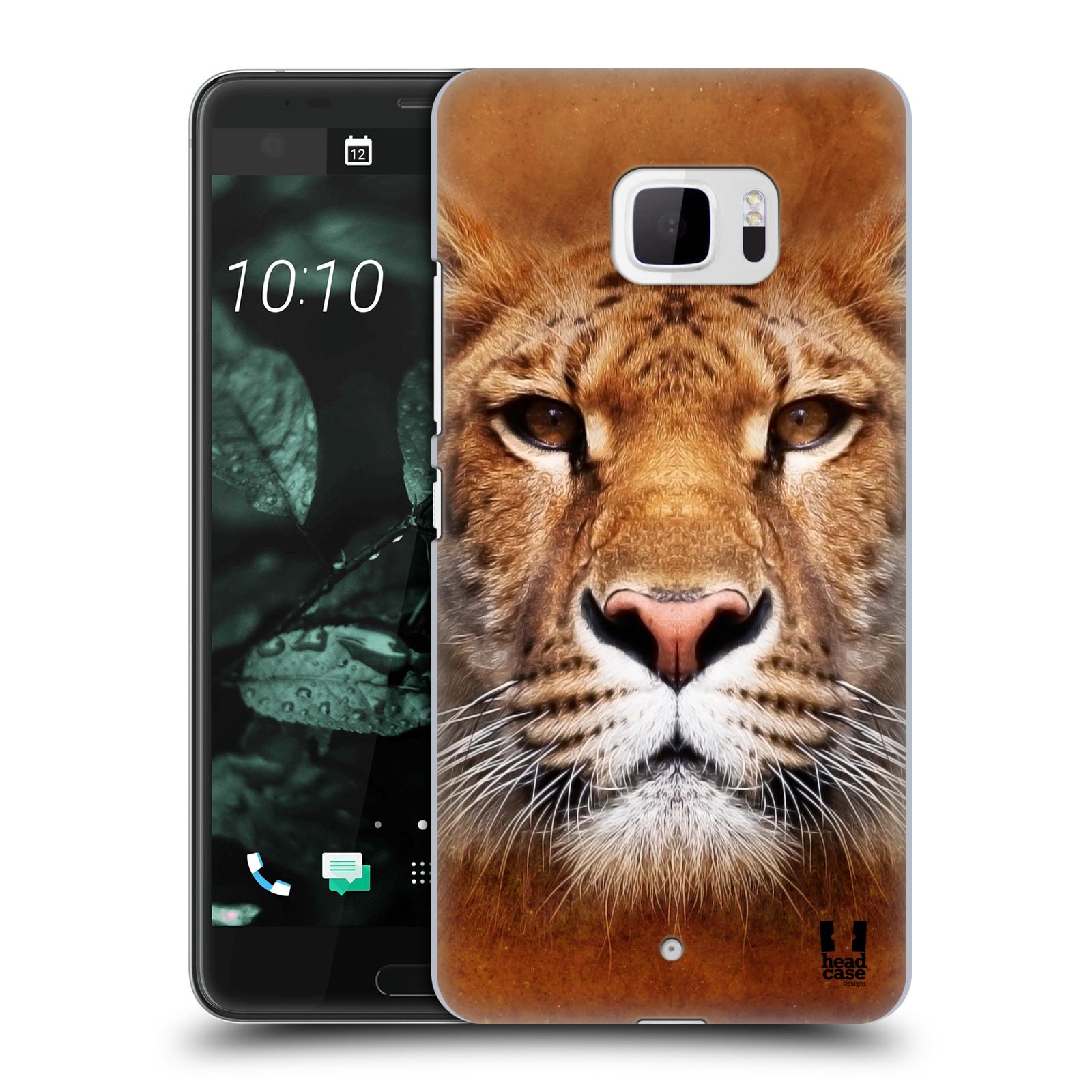 Plastové pouzdro na mobil HTC U Ultra Head Case - TVÁŘ LIGER (Plastový kryt či obal na mobilní telefon HTC U Ultra (99HALT015-00))