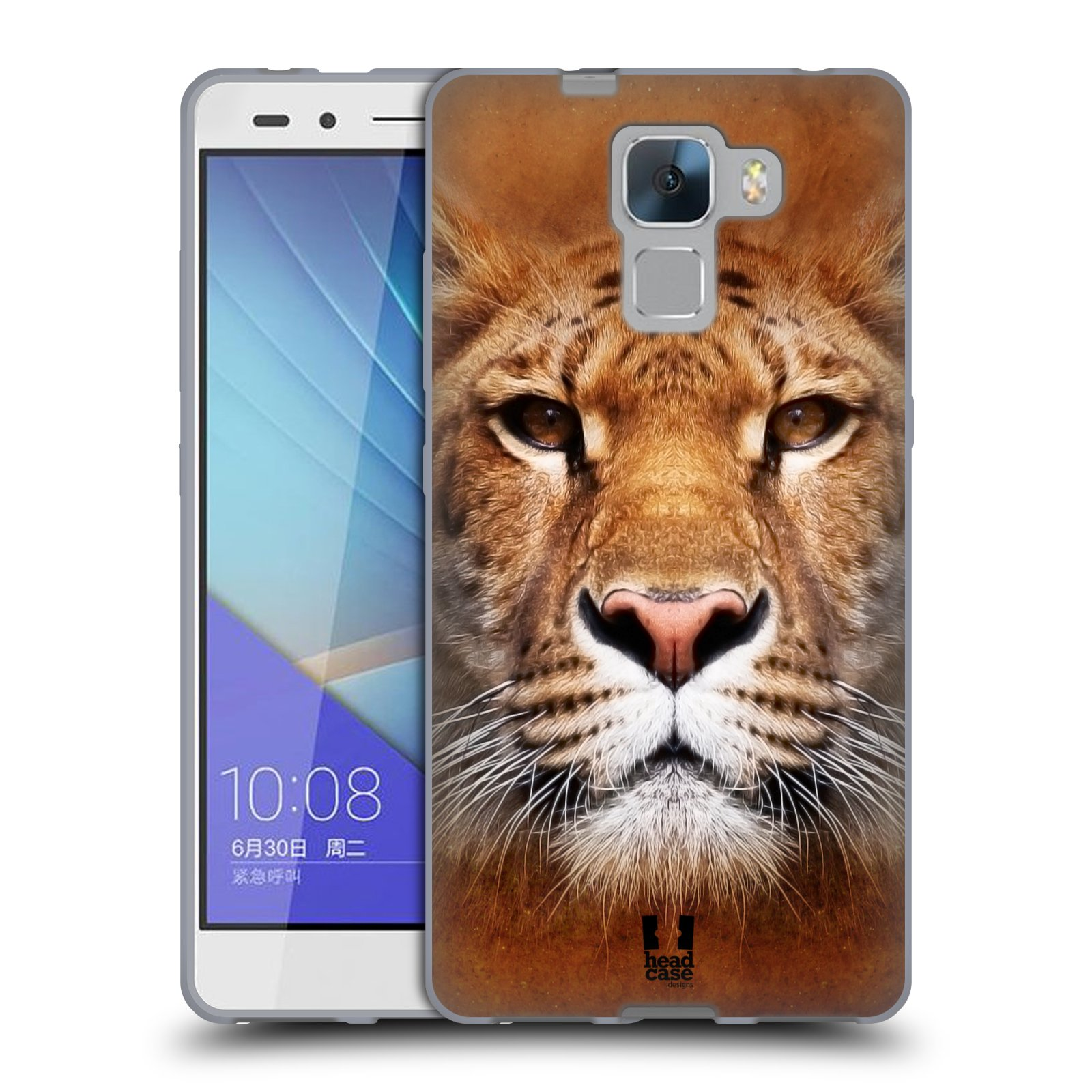 Silikonové pouzdro na mobil Honor 7 HEAD CASE TVÁŘ LIGER