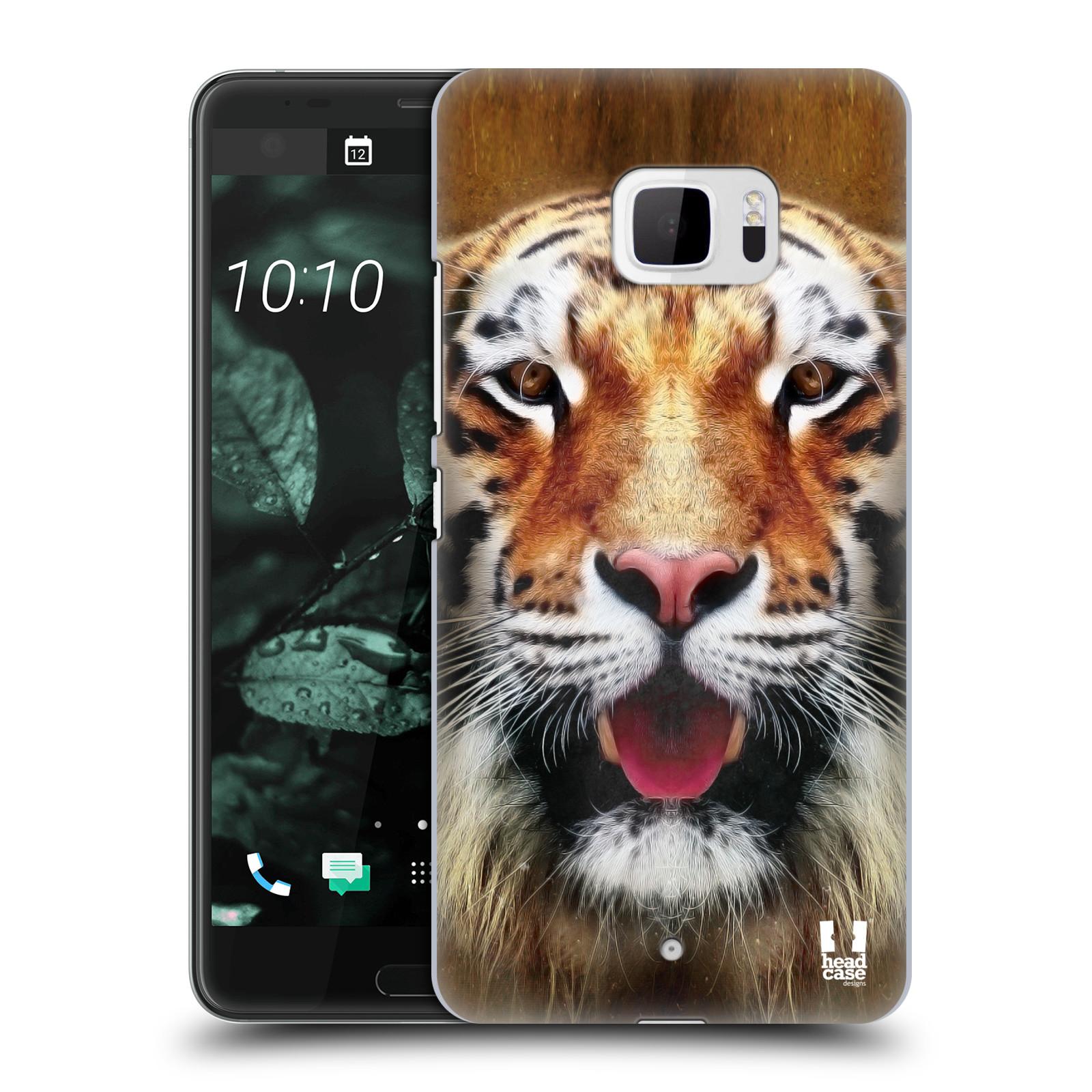 Plastové pouzdro na mobil HTC U Ultra Head Case - TVÁŘ TYGR (Plastový kryt či obal na mobilní telefon HTC U Ultra (99HALT015-00))