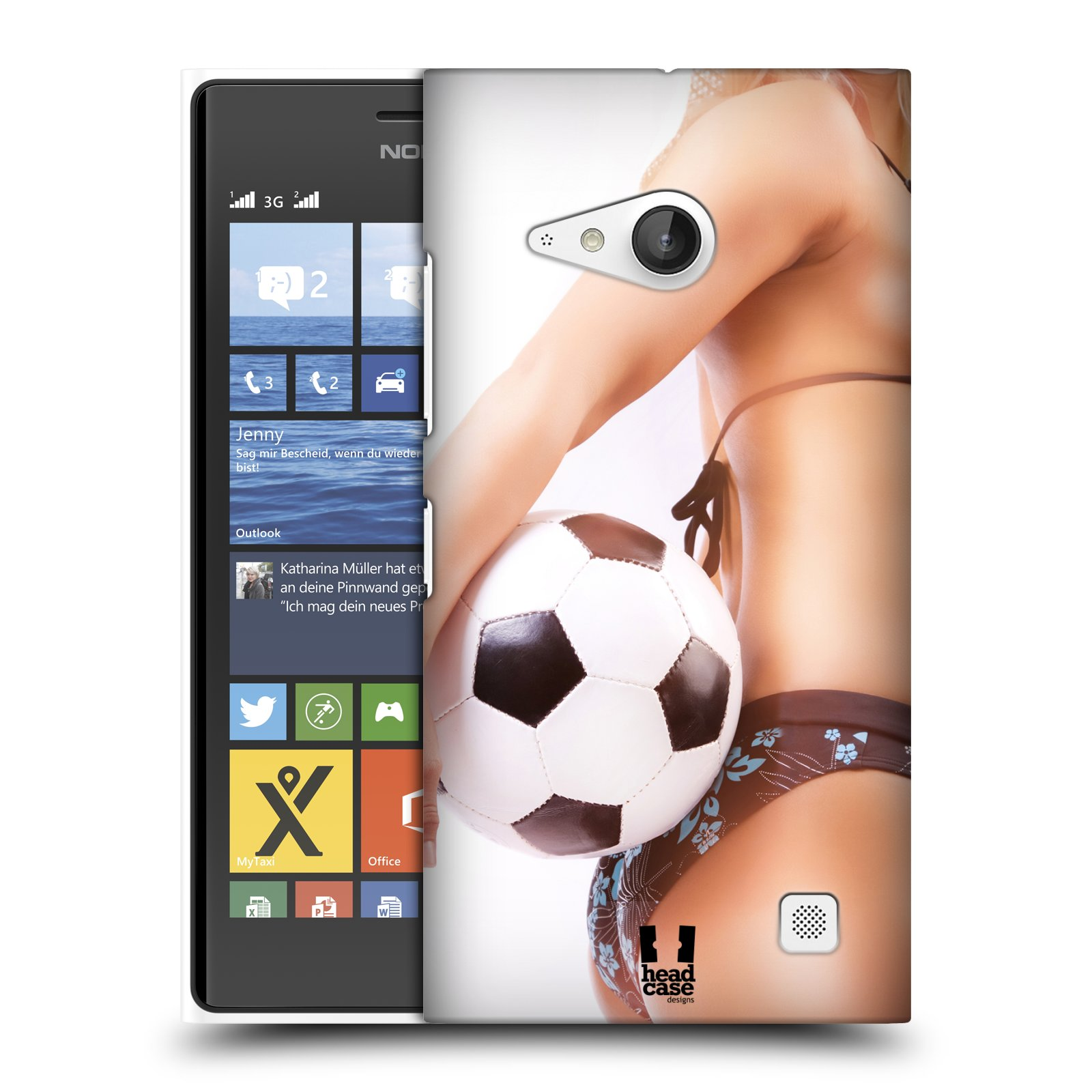 Plastové pouzdro na mobil Nokia Lumia 730 Dual SIM HEAD CASE SEXY ZADEČEK