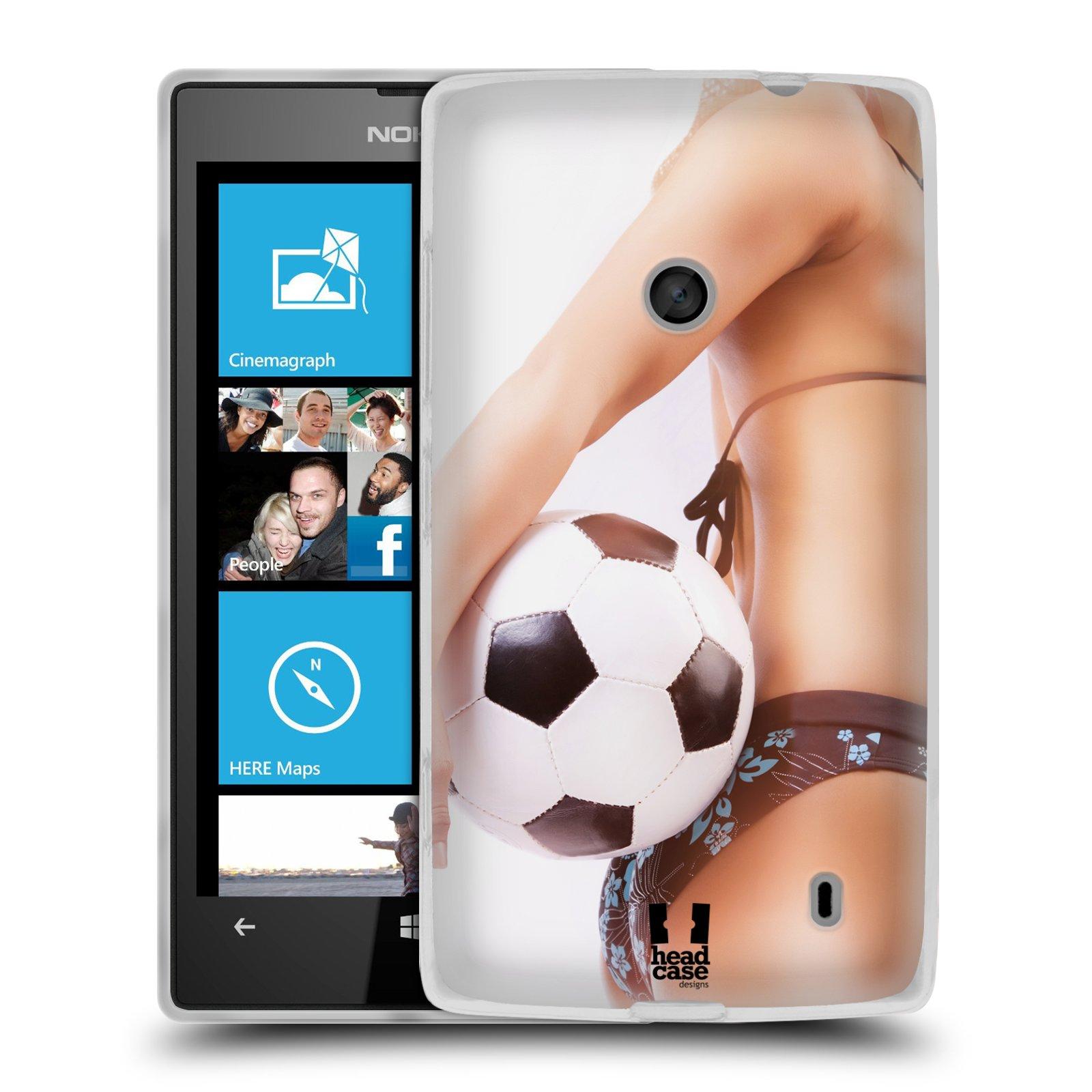 Silikonové pouzdro na mobil Nokia Lumia 520 HEAD CASE SEXY ZADEČEK