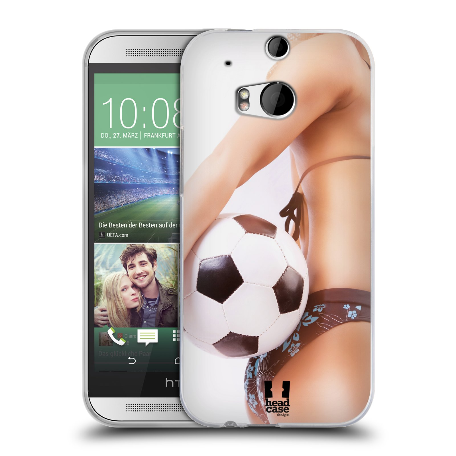 Silikonové pouzdro na mobil HTC ONE M8 HEAD CASE SEXY ZADEČEK