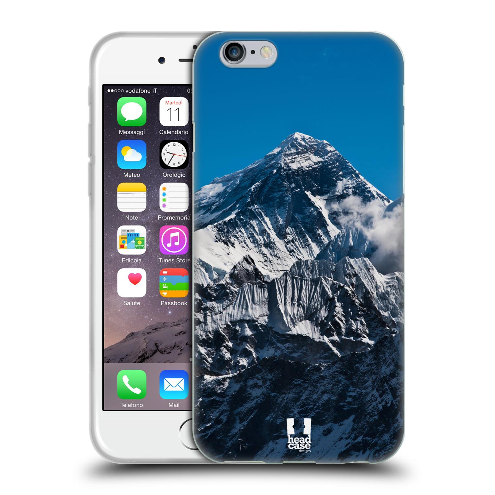 Silikonové pouzdro na mobil Apple iPhone 6 a 6S HEAD CASE Mount Everest Peak